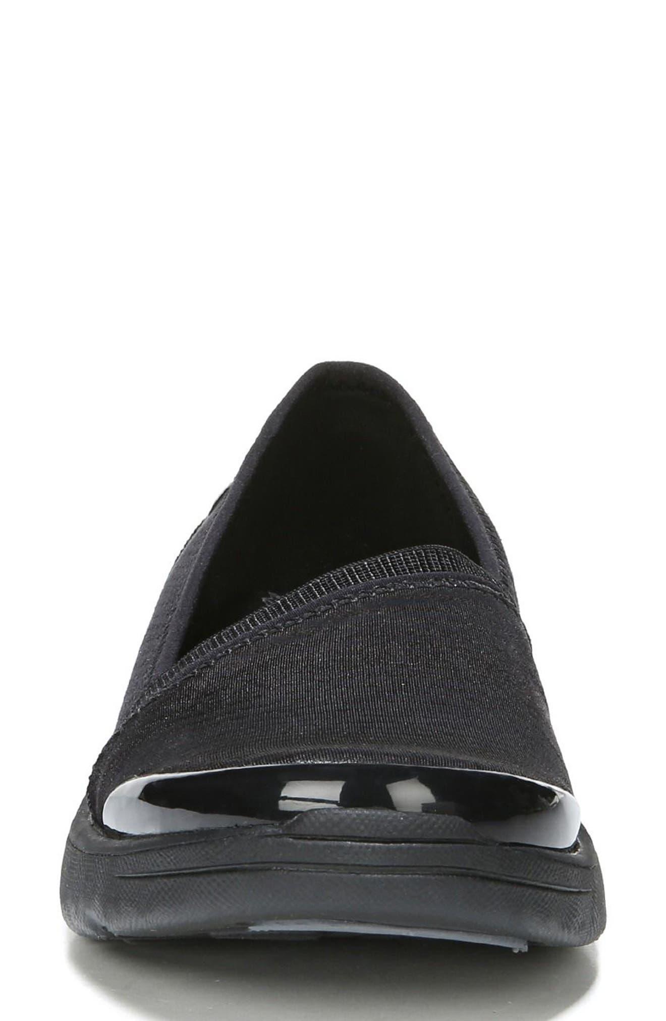 Lollipop Slip-On Sneaker,                             Alternate thumbnail 4, color,                             BLACK FABRIC