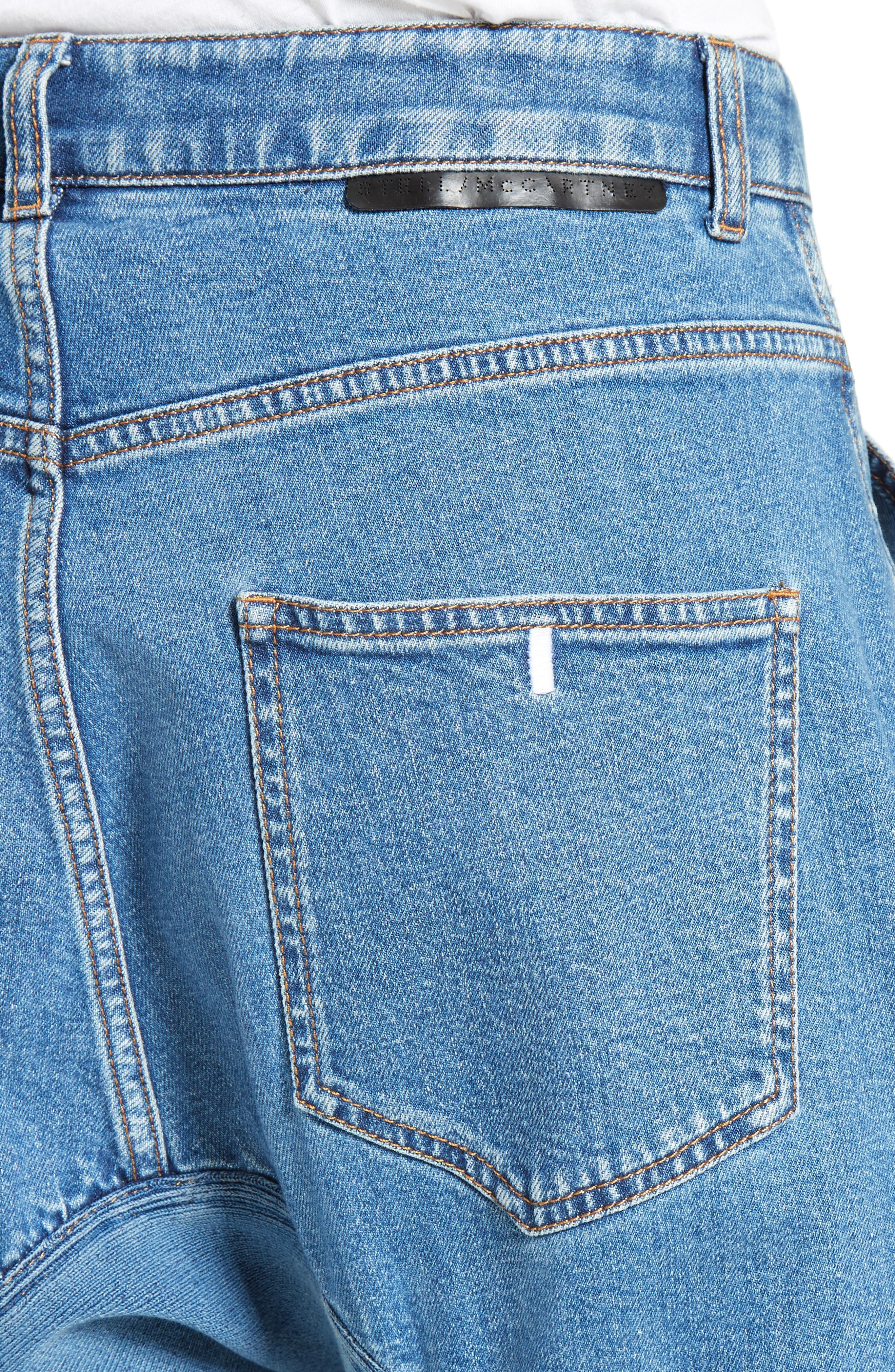 Xenia Ruched Crop Jeans,                             Alternate thumbnail 4, color,                             400