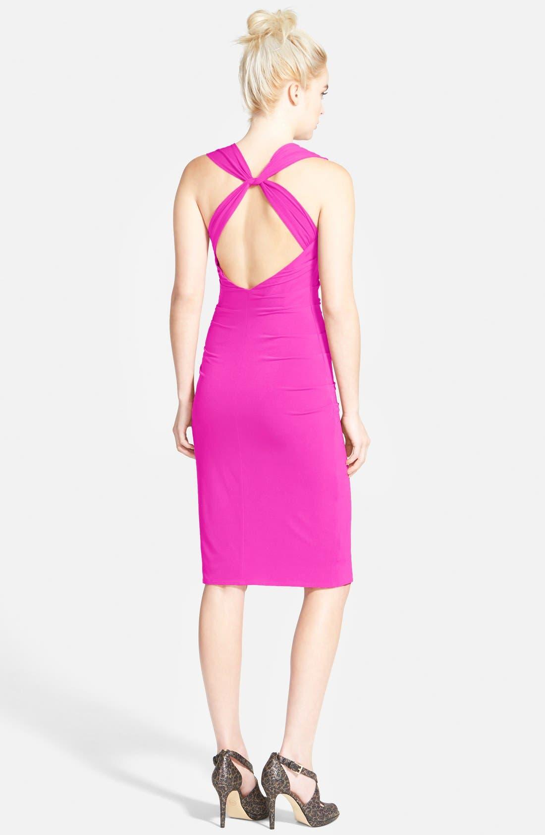 Twist Back Jersey Body-Con Dress,                             Alternate thumbnail 14, color,