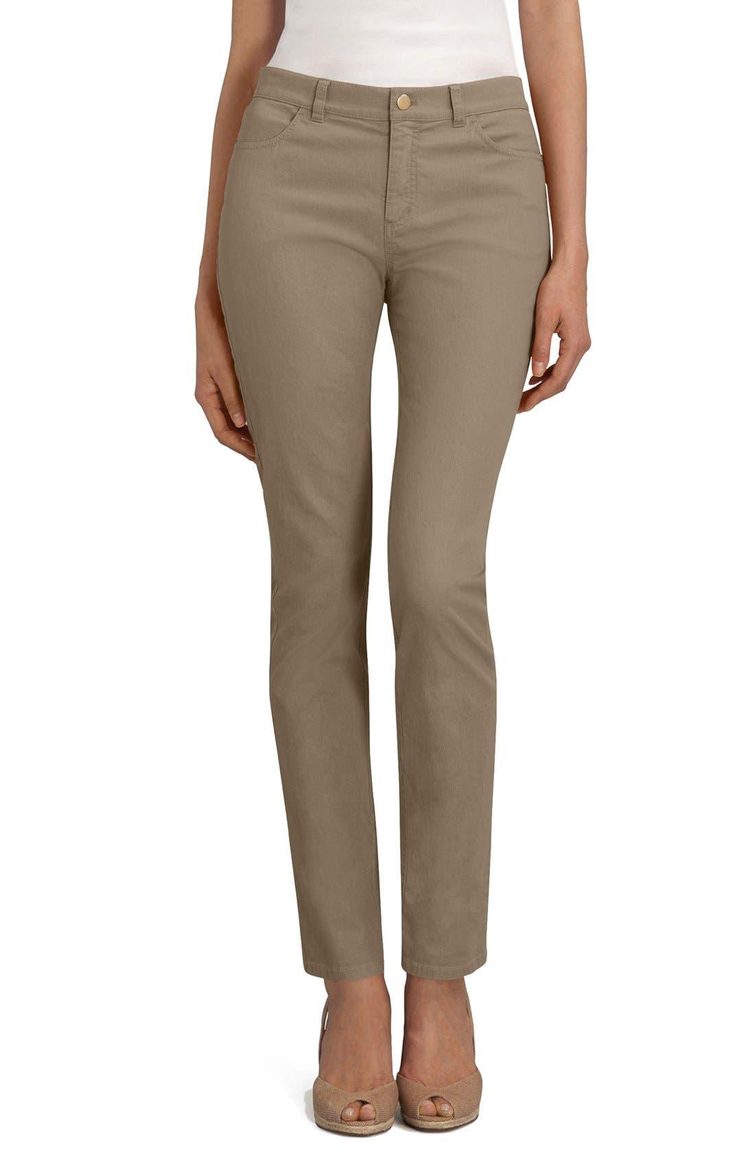 'Primo Denim' Curvy Fit Slim Leg Jeans,                             Main thumbnail 1, color,                             PORCELAIN