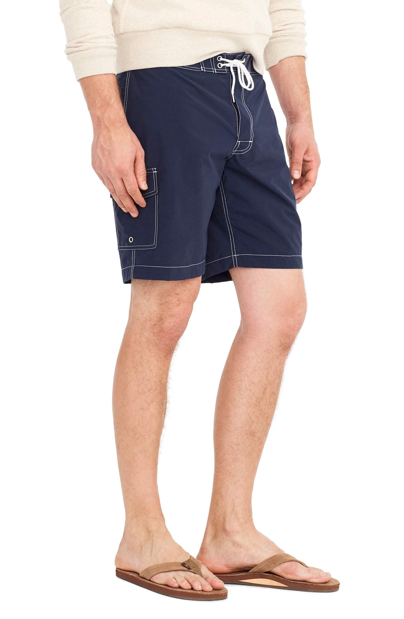 Solid Swim Trunks,                             Alternate thumbnail 3, color,                             400