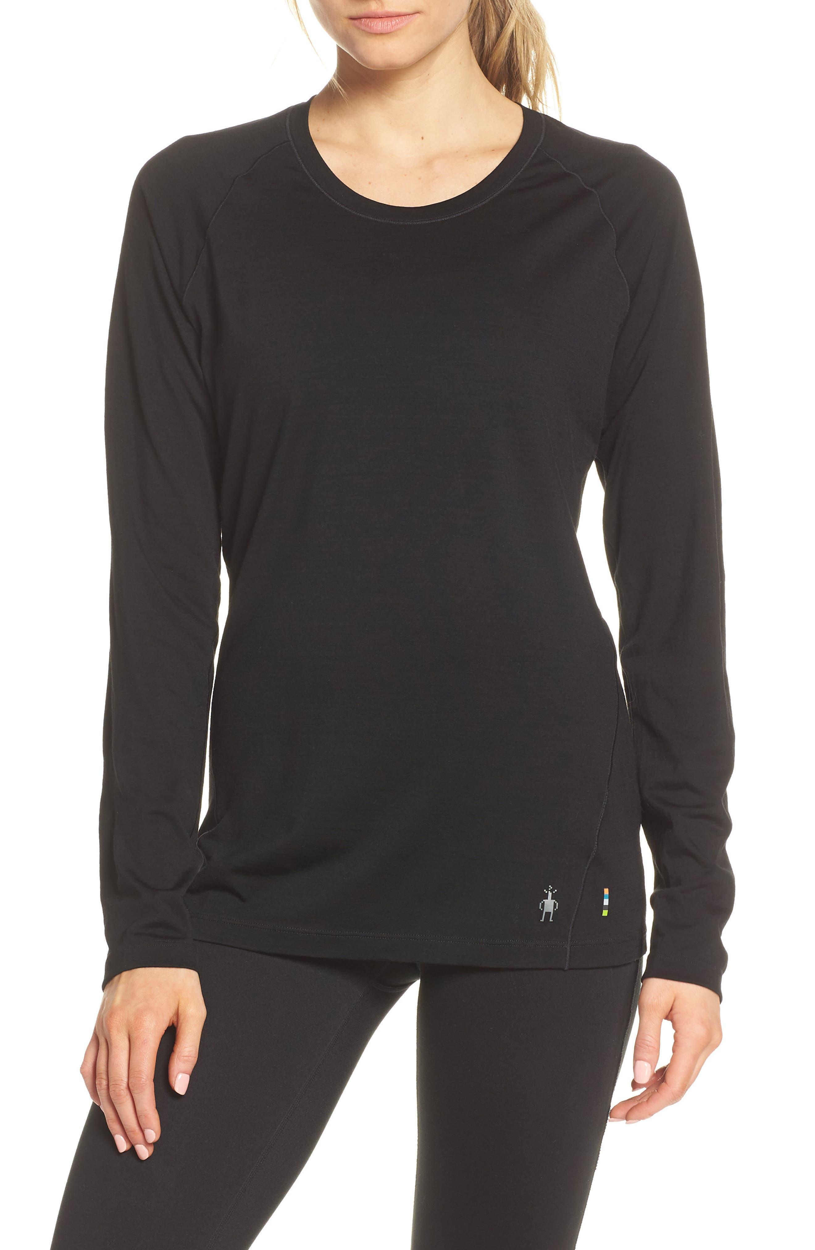 Smartwool Merino Wool 150 Base Layer Top, Black