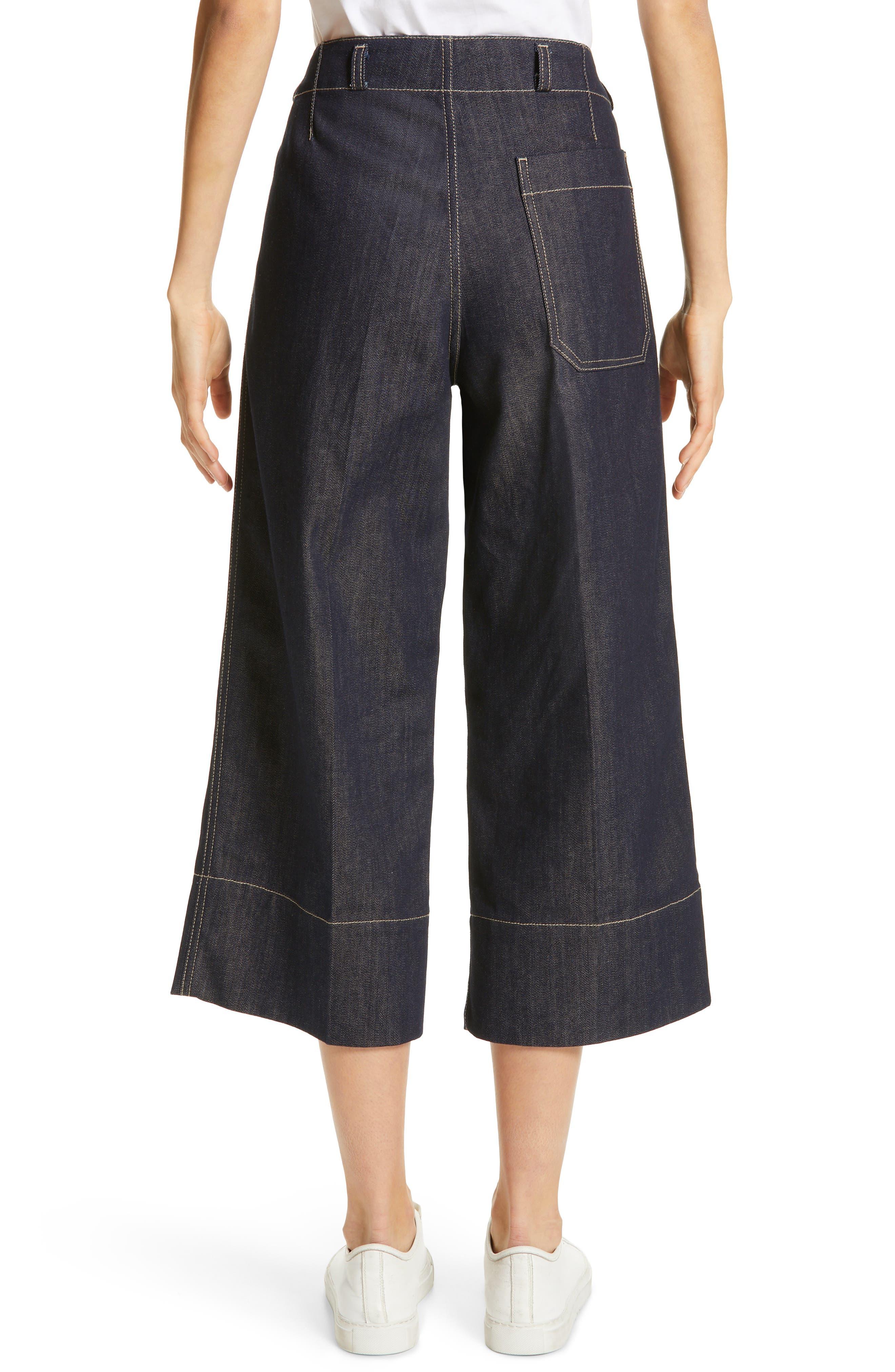 SOFIE D'HOORE,                             Wide Leg Crop Jeans,                             Alternate thumbnail 2, color,                             RAW