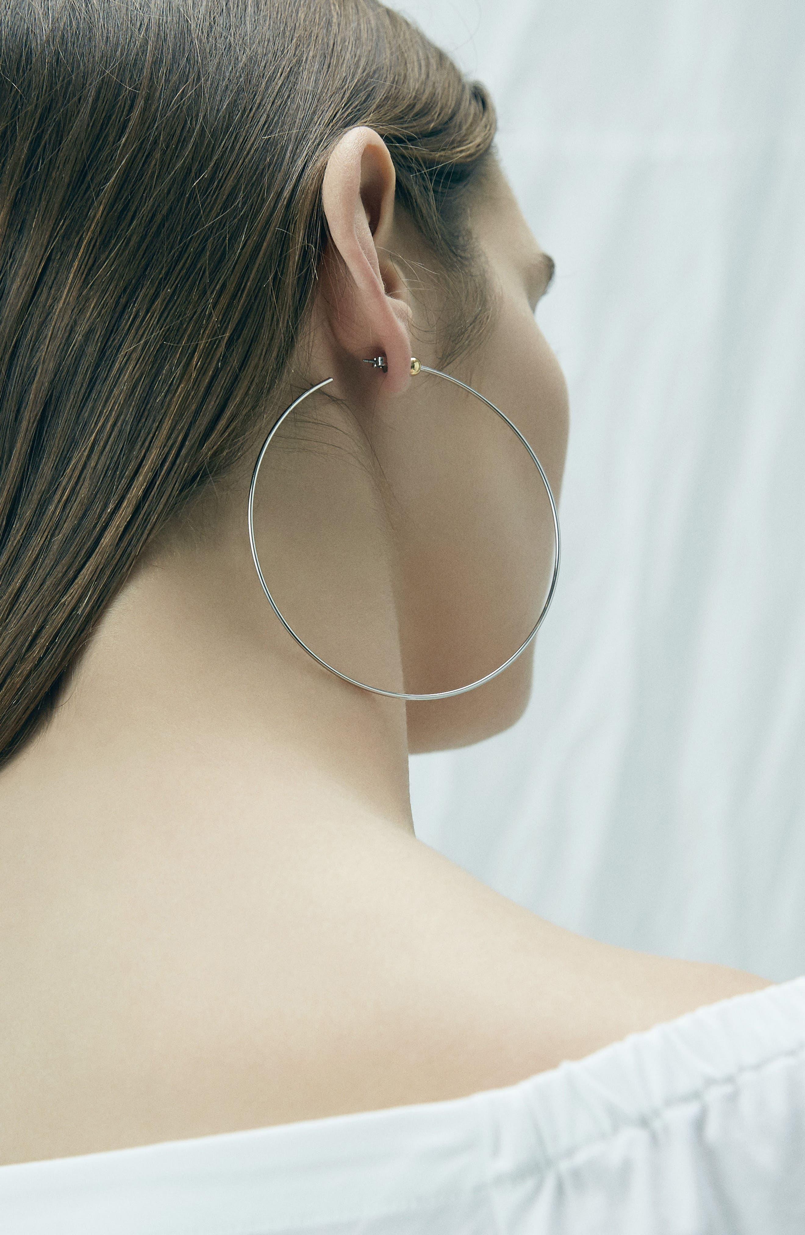Large Icon Hoop Earrings,                             Alternate thumbnail 3, color,                             712