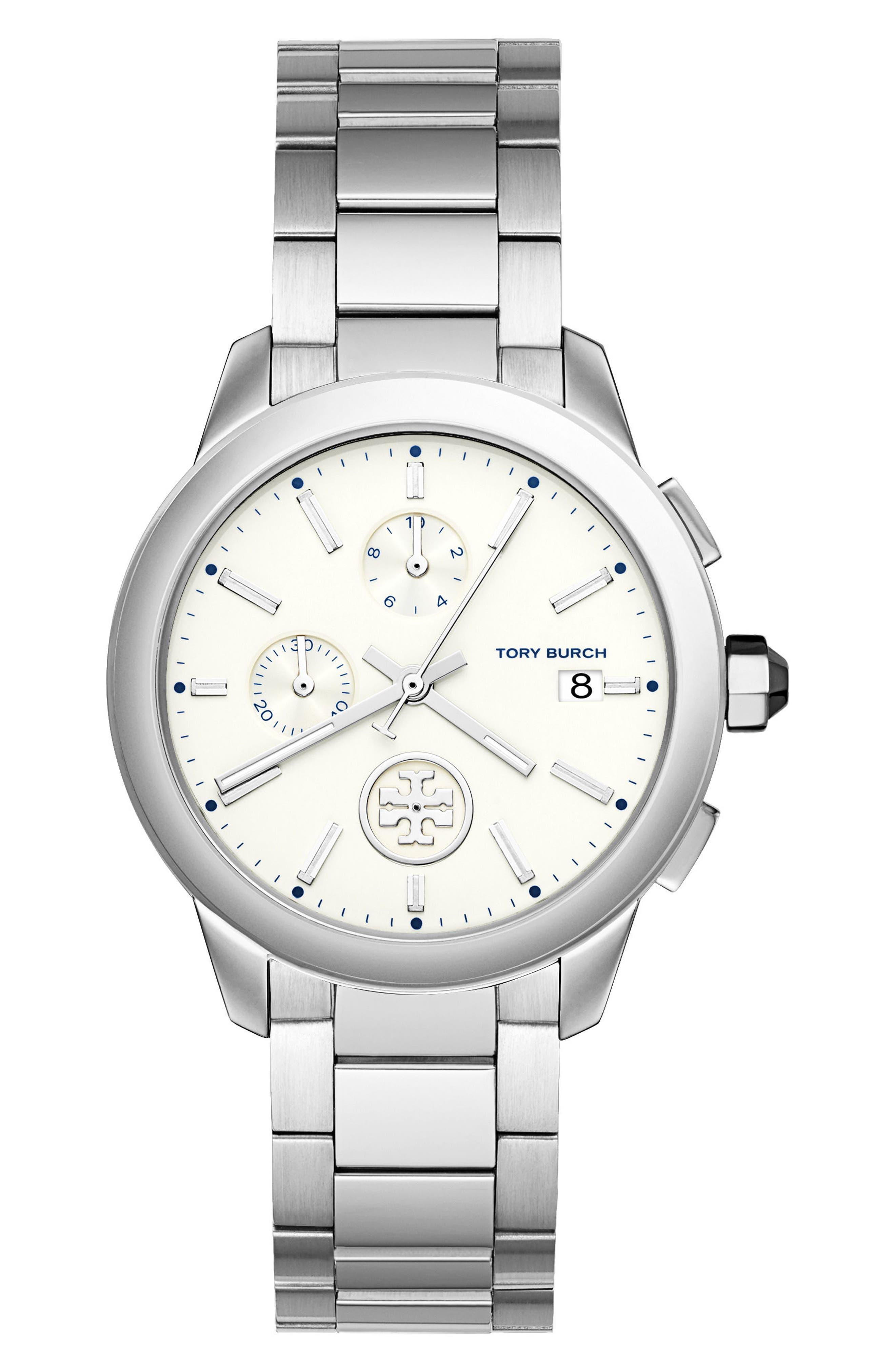 Collins Chronograph Bracelet Watch, 38mm,                         Main,                         color, 040
