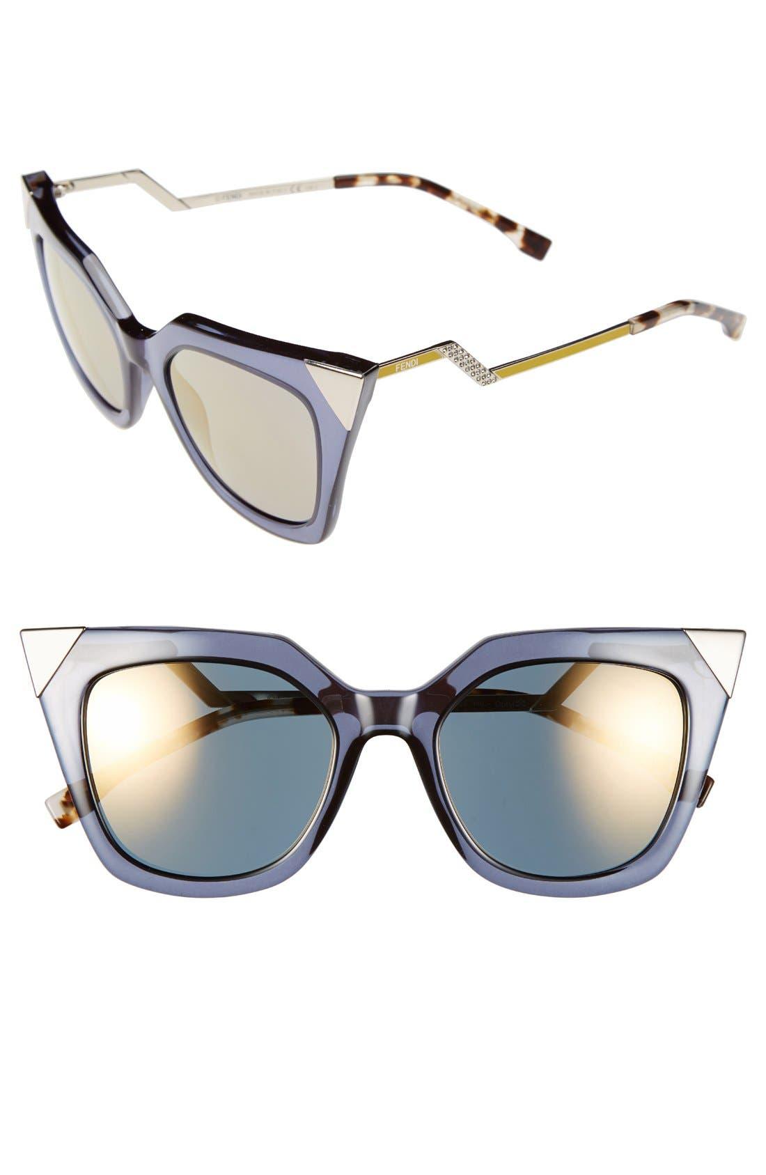 52mm Cat Eye Sunglasses,                             Main thumbnail 6, color,