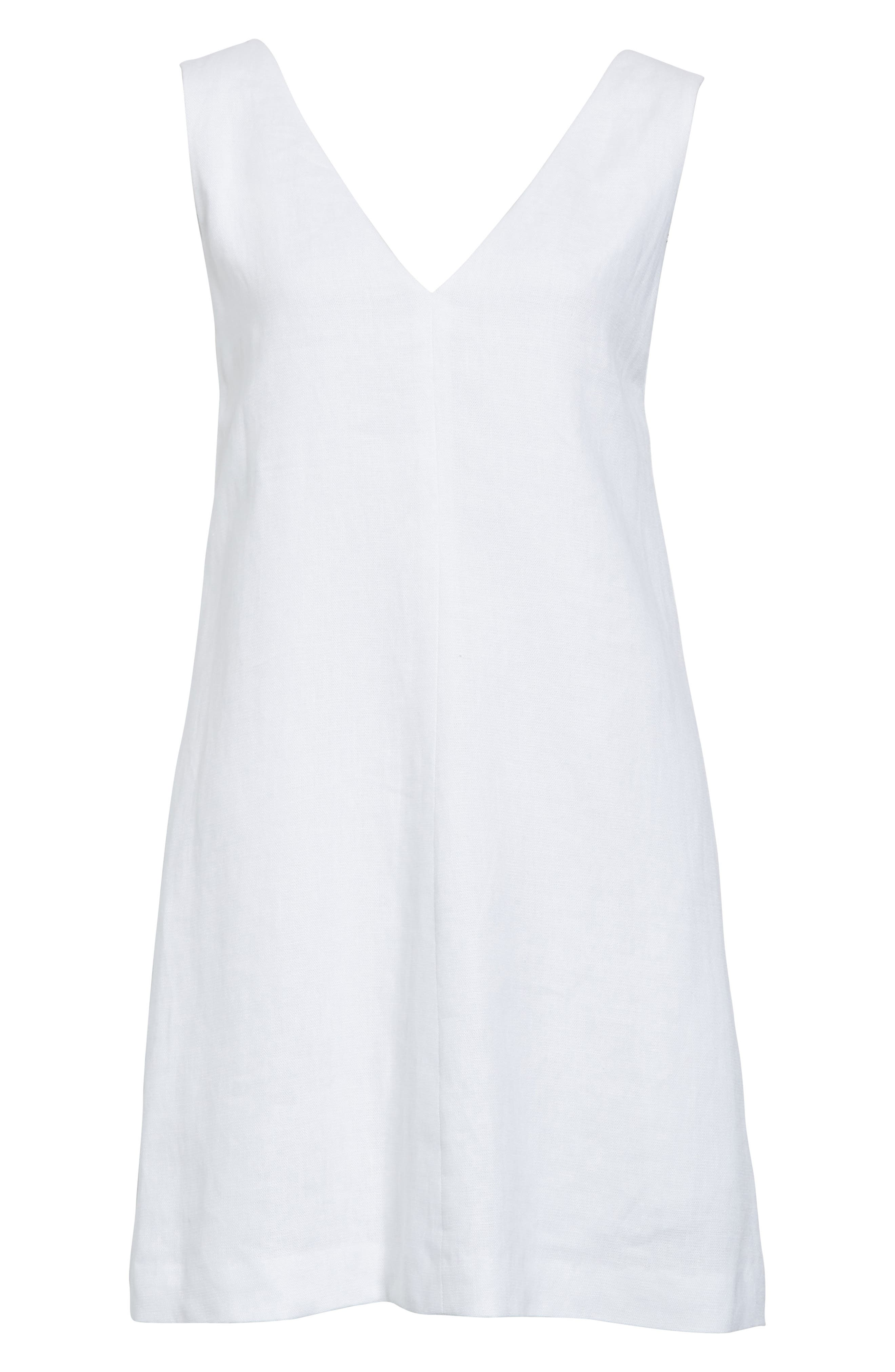 Linen Shift Dress,                             Alternate thumbnail 11, color,
