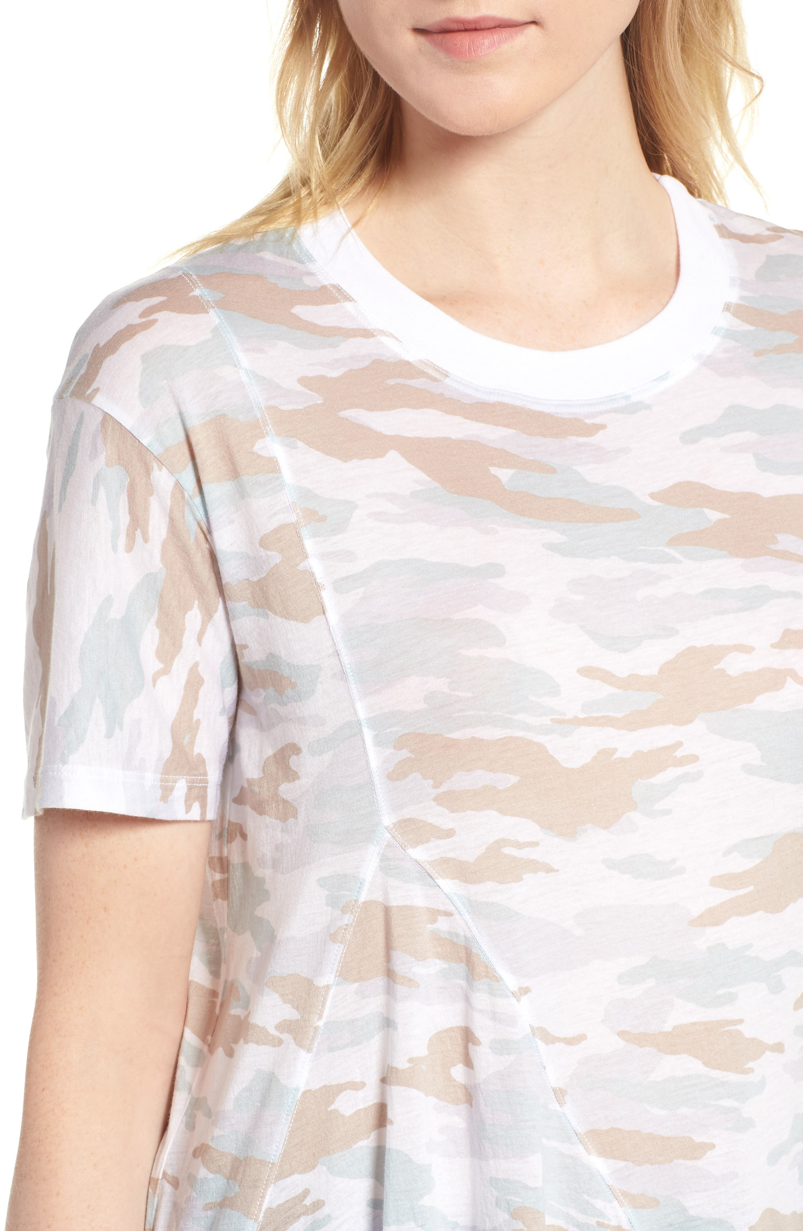 Camo Swing Tee,                             Alternate thumbnail 4, color,                             100