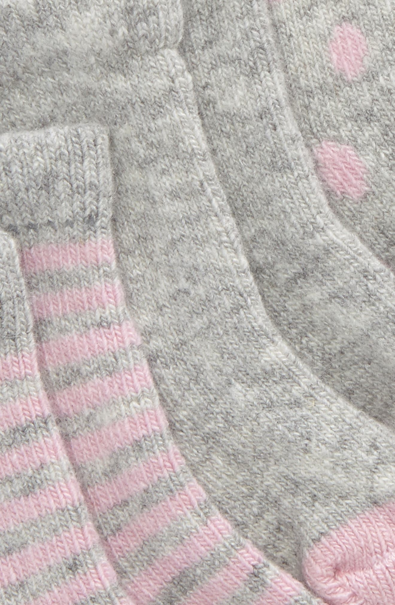 Assorted 3-Pack Wool & Cashmere Socks,                             Alternate thumbnail 2, color,                             PINK