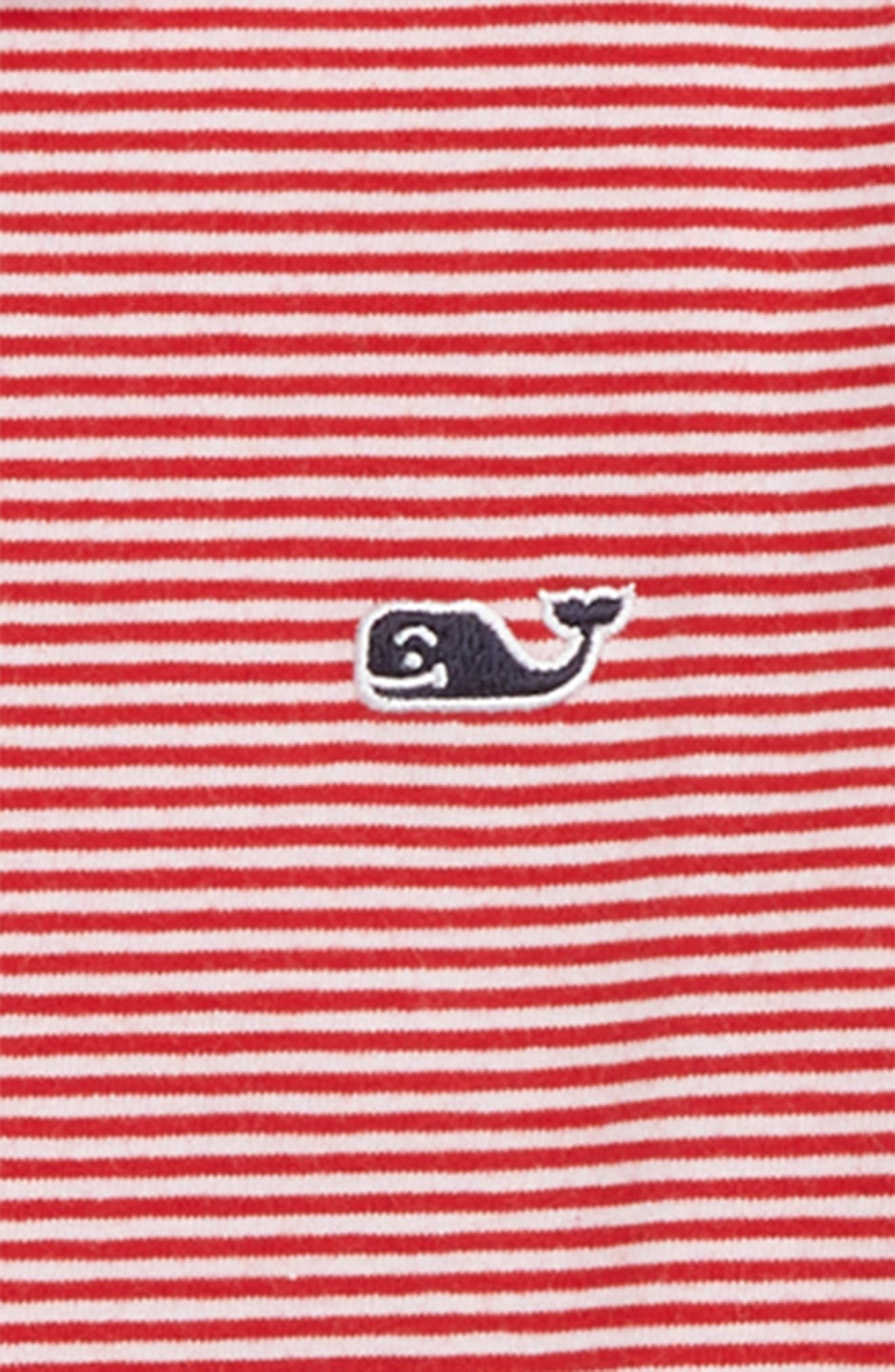 Stripe Edgartown Performance Polo,                             Alternate thumbnail 2, color,                             CALYPSO RED