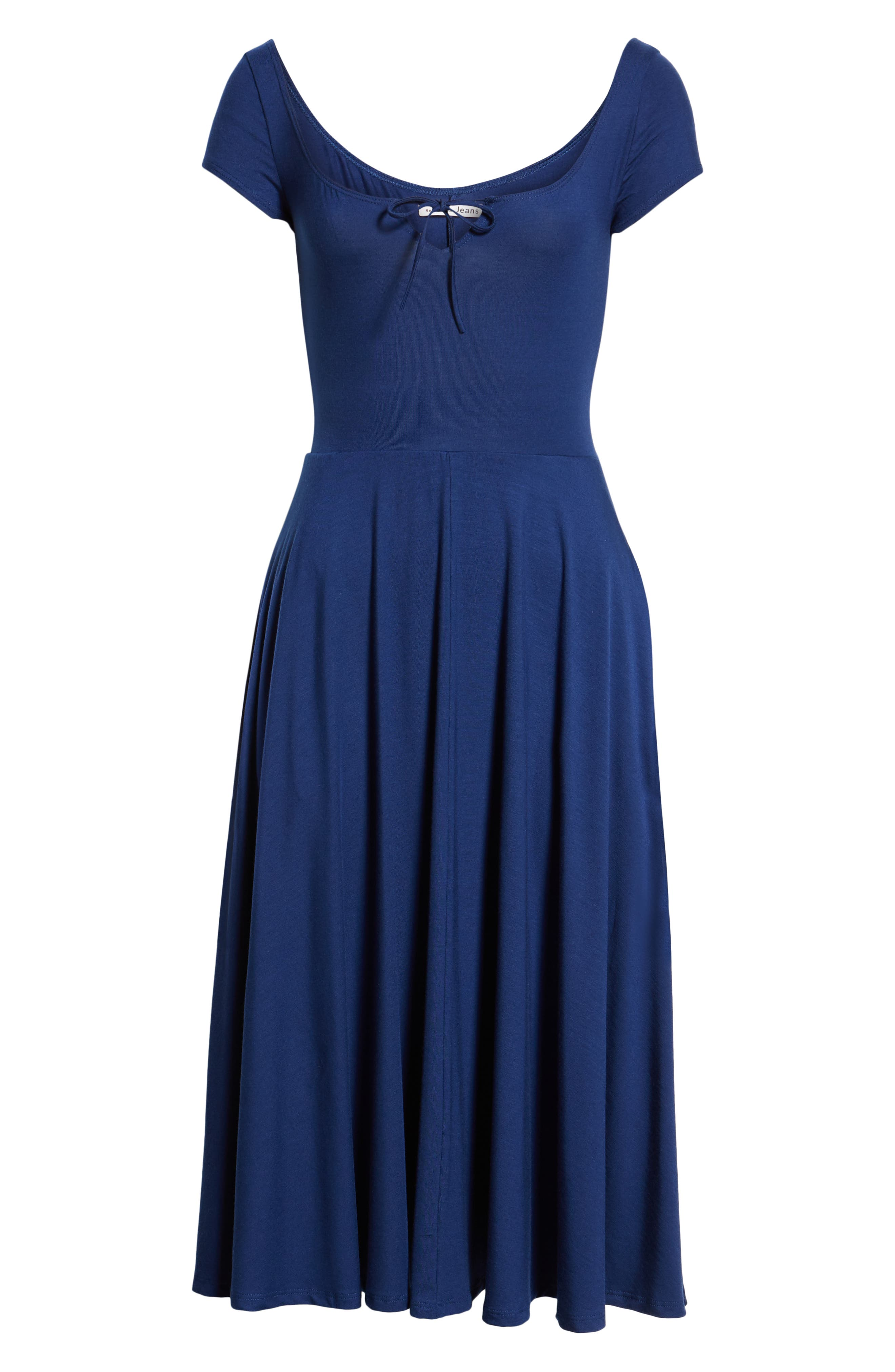 Krista Dress,                             Alternate thumbnail 6, color,                             NAVY