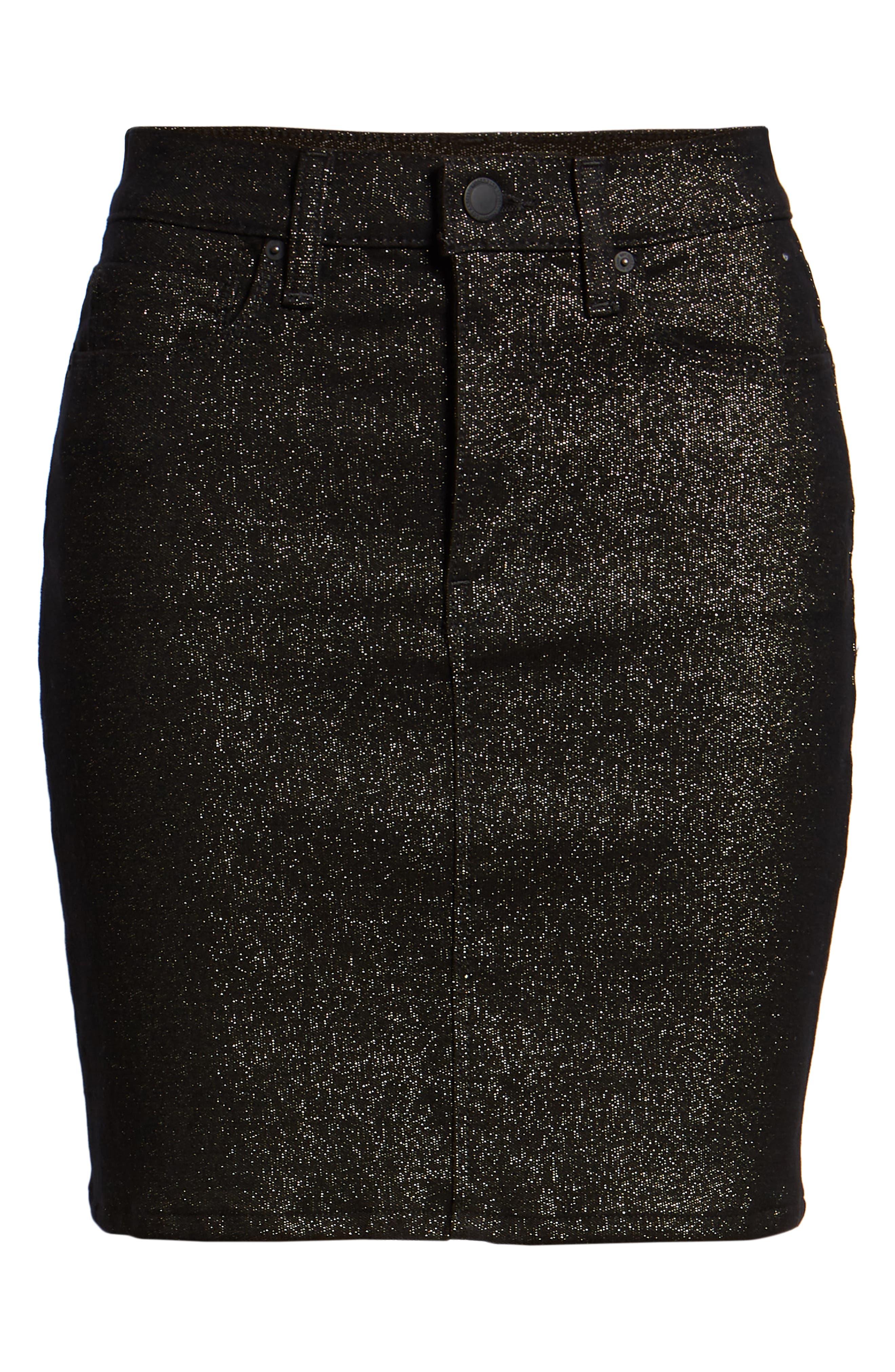 Lulu Sparkle Miniskirt,                             Alternate thumbnail 7, color,                             GOLD STELLAR