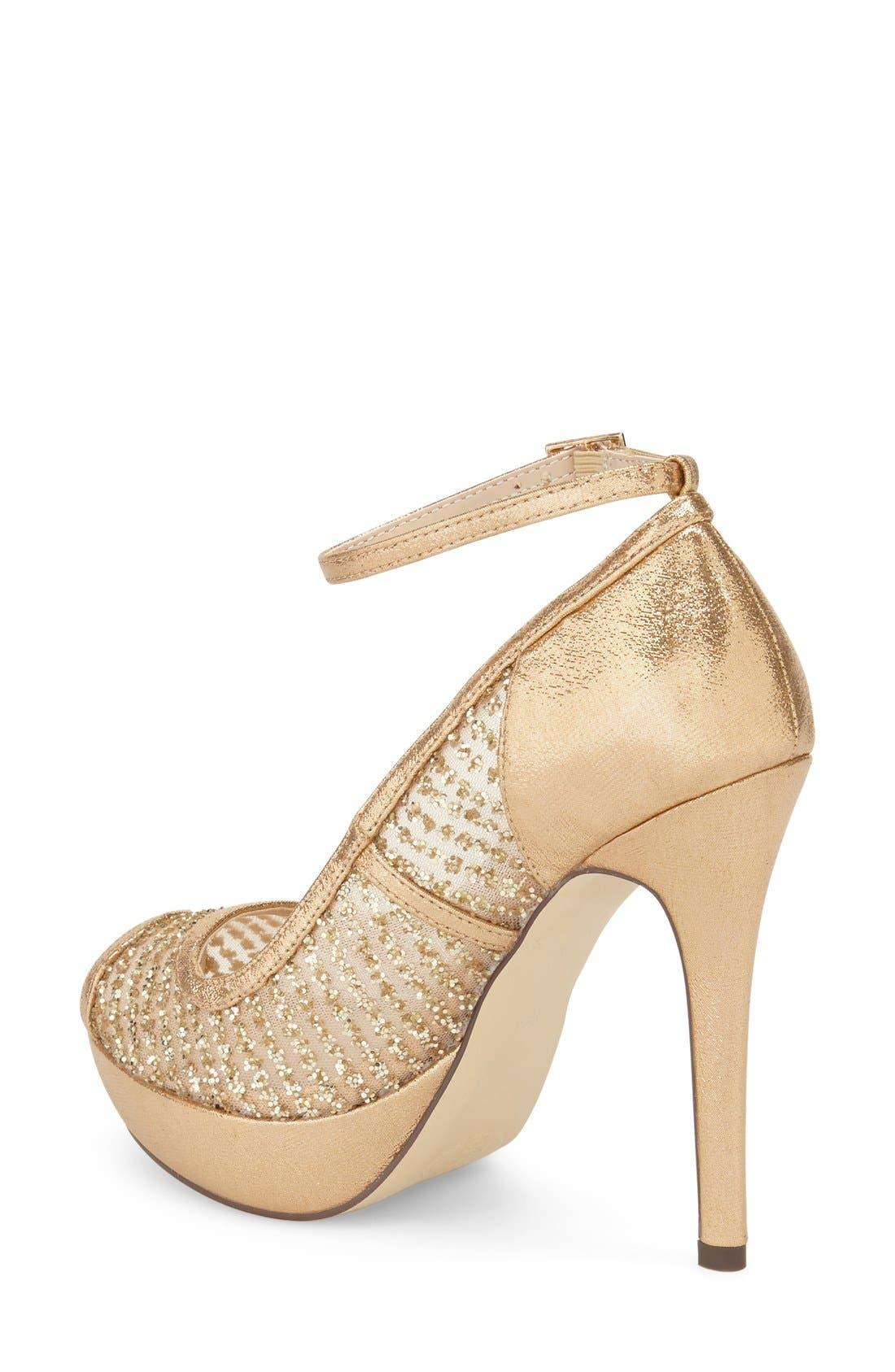 'Tambre' Glitter Platform Sandal,                             Alternate thumbnail 2, color,                             273