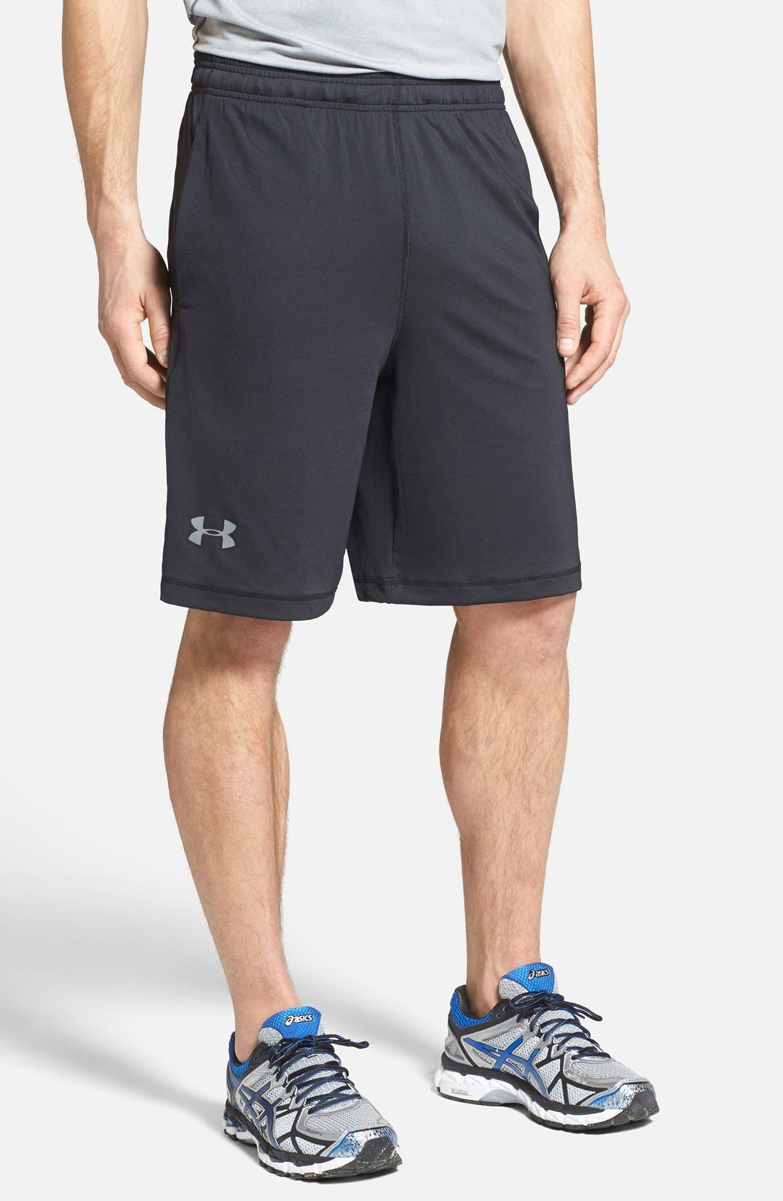'Raid' HeatGear<sup>®</sup> Loose-Fit Athletic Shorts,                             Alternate thumbnail 3, color,                             001
