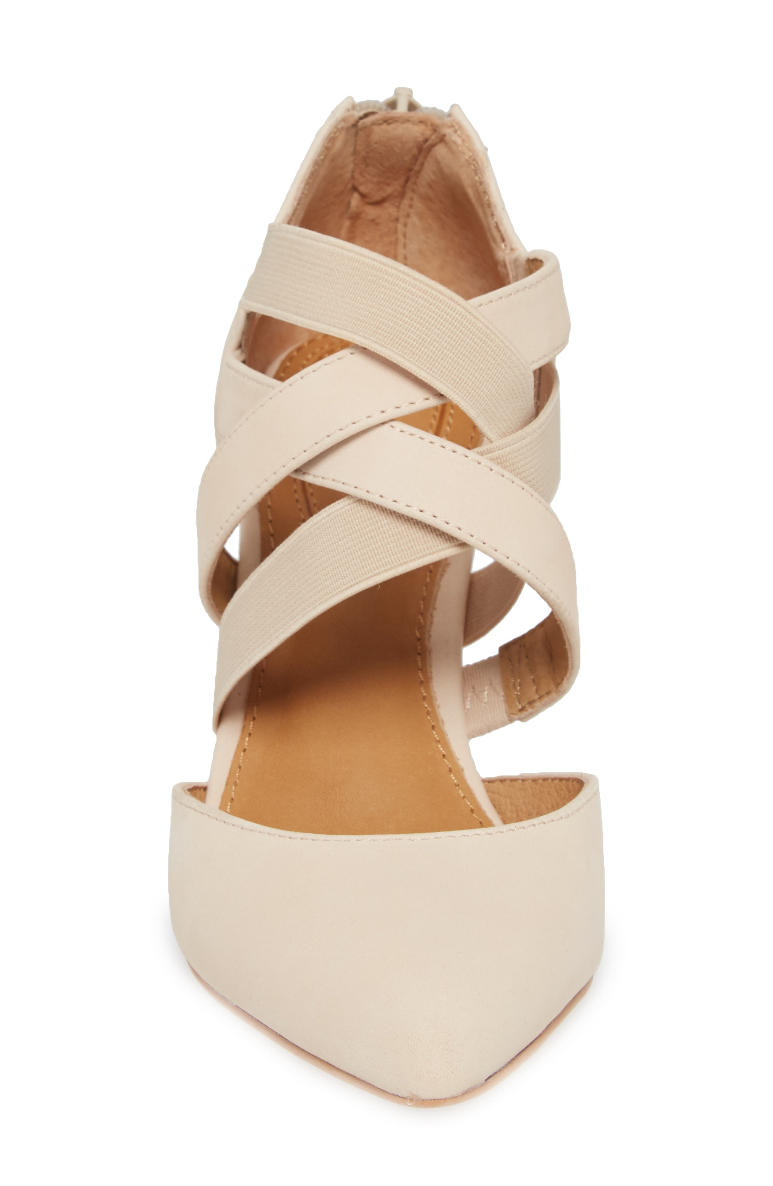 Crystal Strappy Pump,                             Alternate thumbnail 4, color,                             NUDE NUBUCK