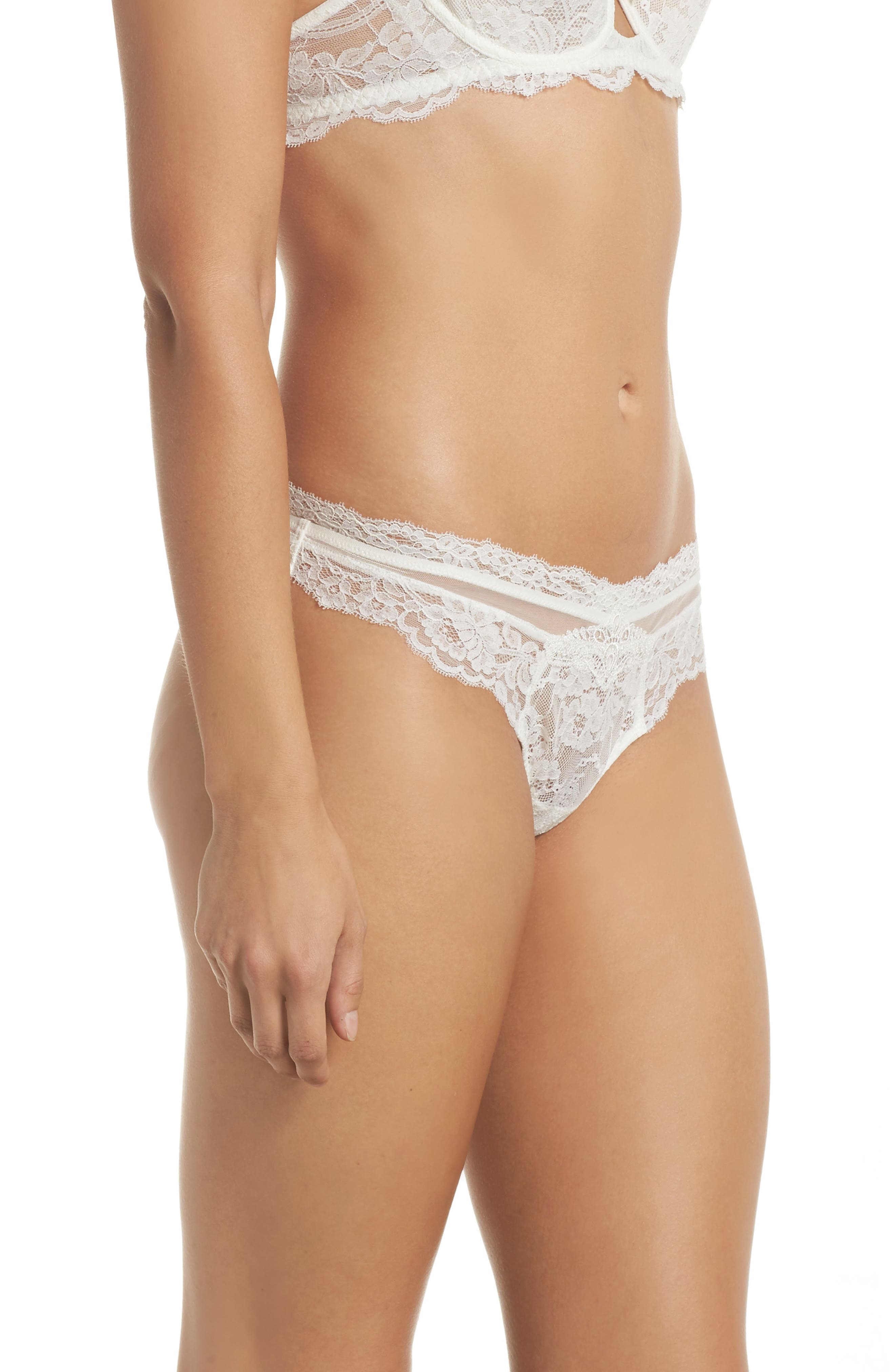 Exception Charme Thong,                             Alternate thumbnail 3, color,                             NACRE