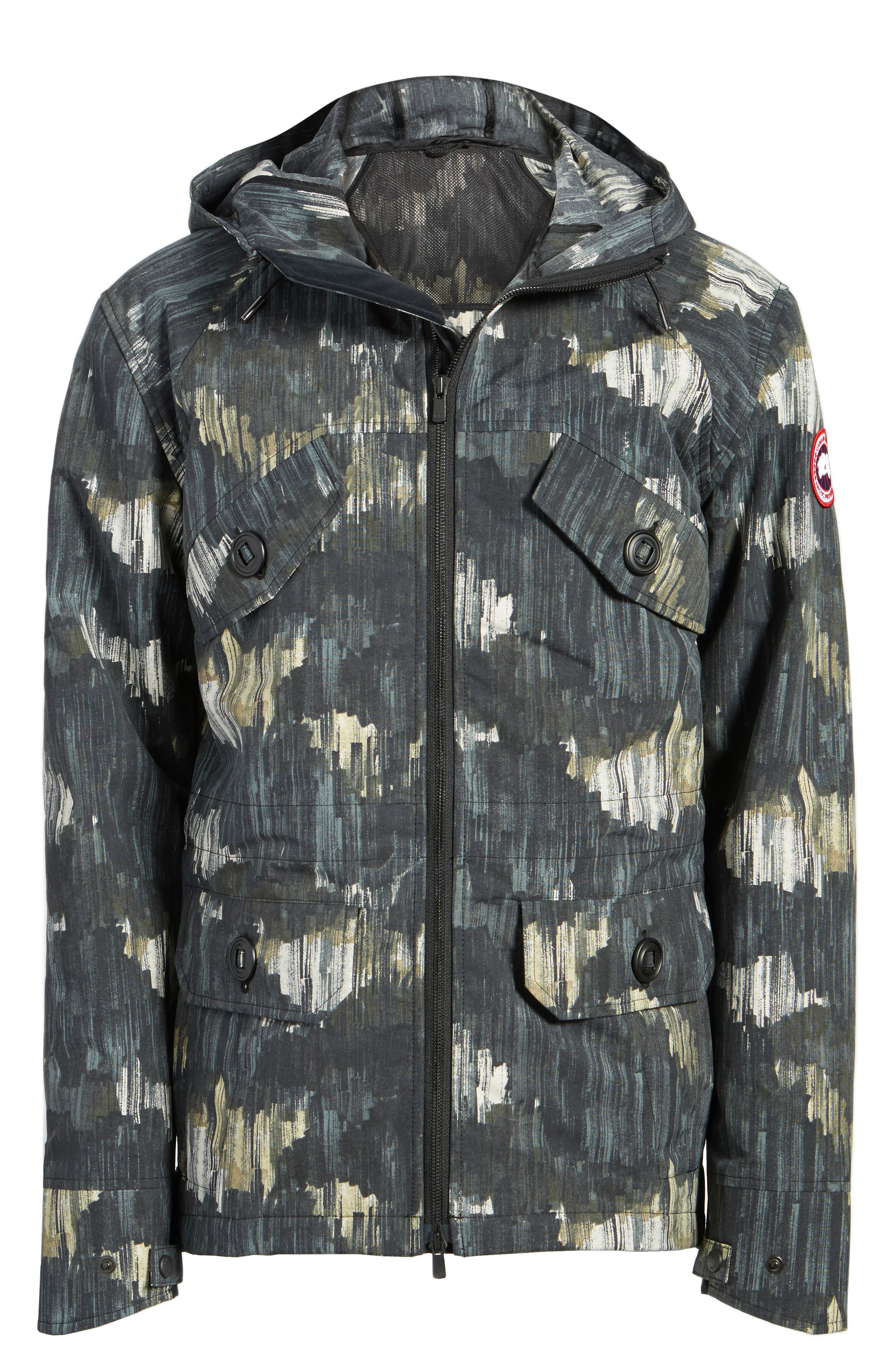 Redstone Slim Fit Hooded Jacket,                             Alternate thumbnail 5, color,                             NOCTURNE PRINT