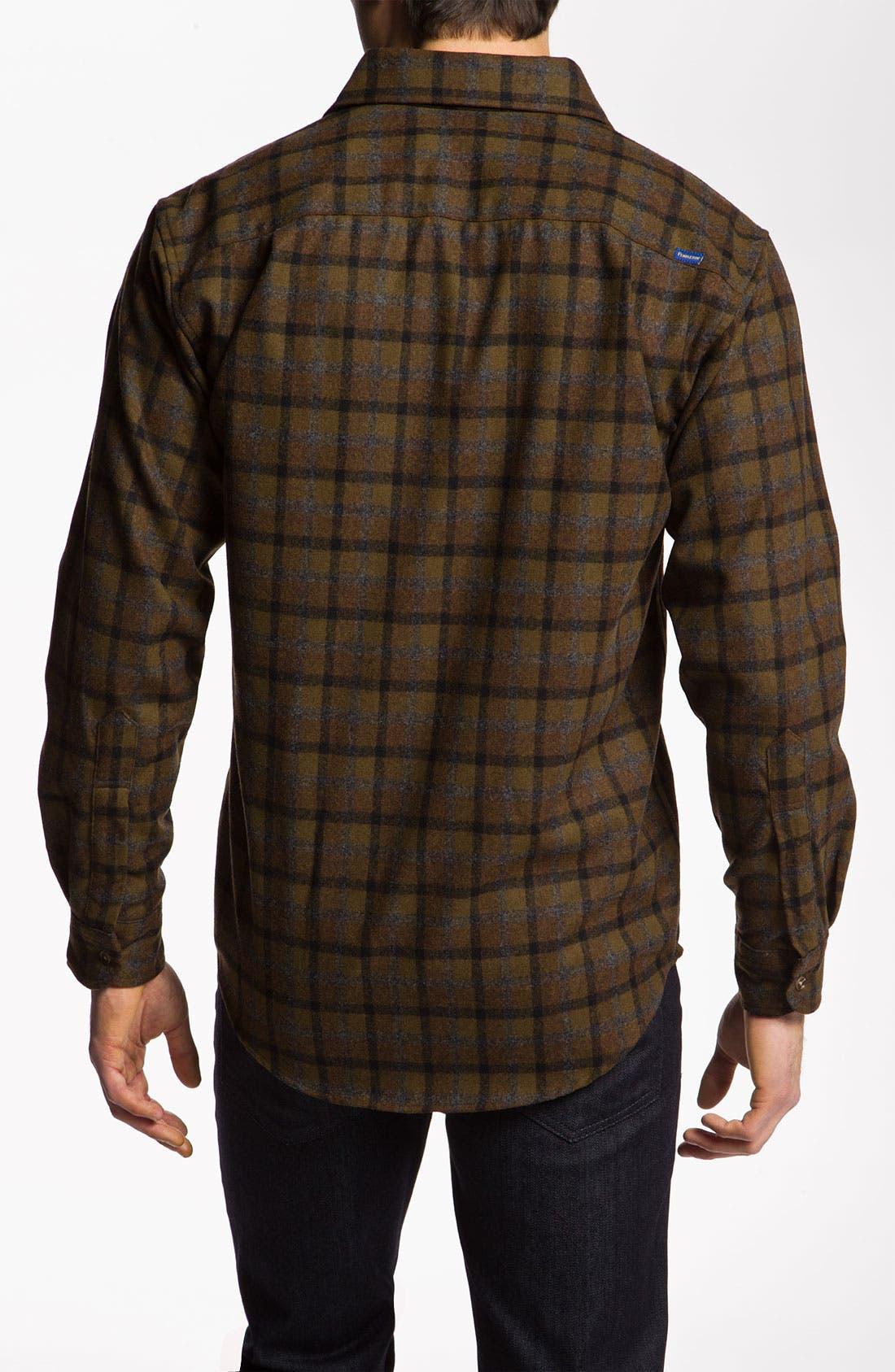 Virgin Wool Woven Shirt,                             Alternate thumbnail 3, color,                             210