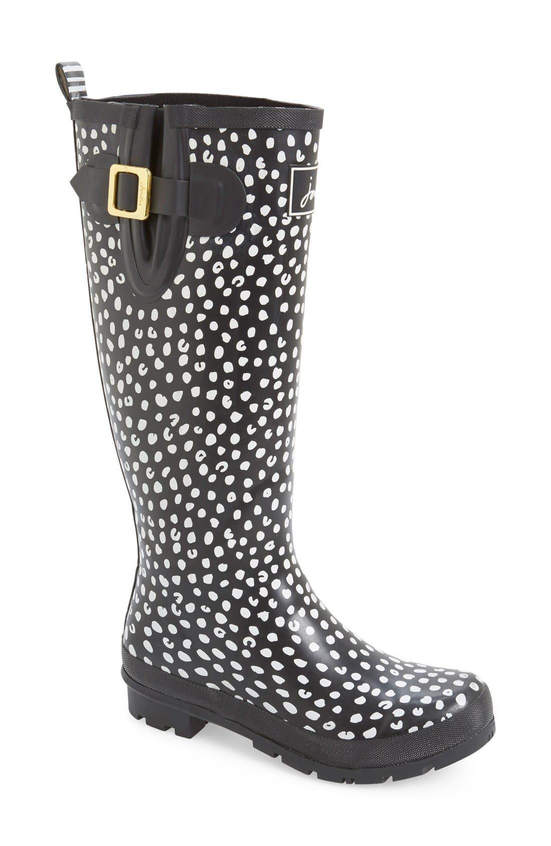 'Welly' Print Rain Boot,                             Main thumbnail 20, color,
