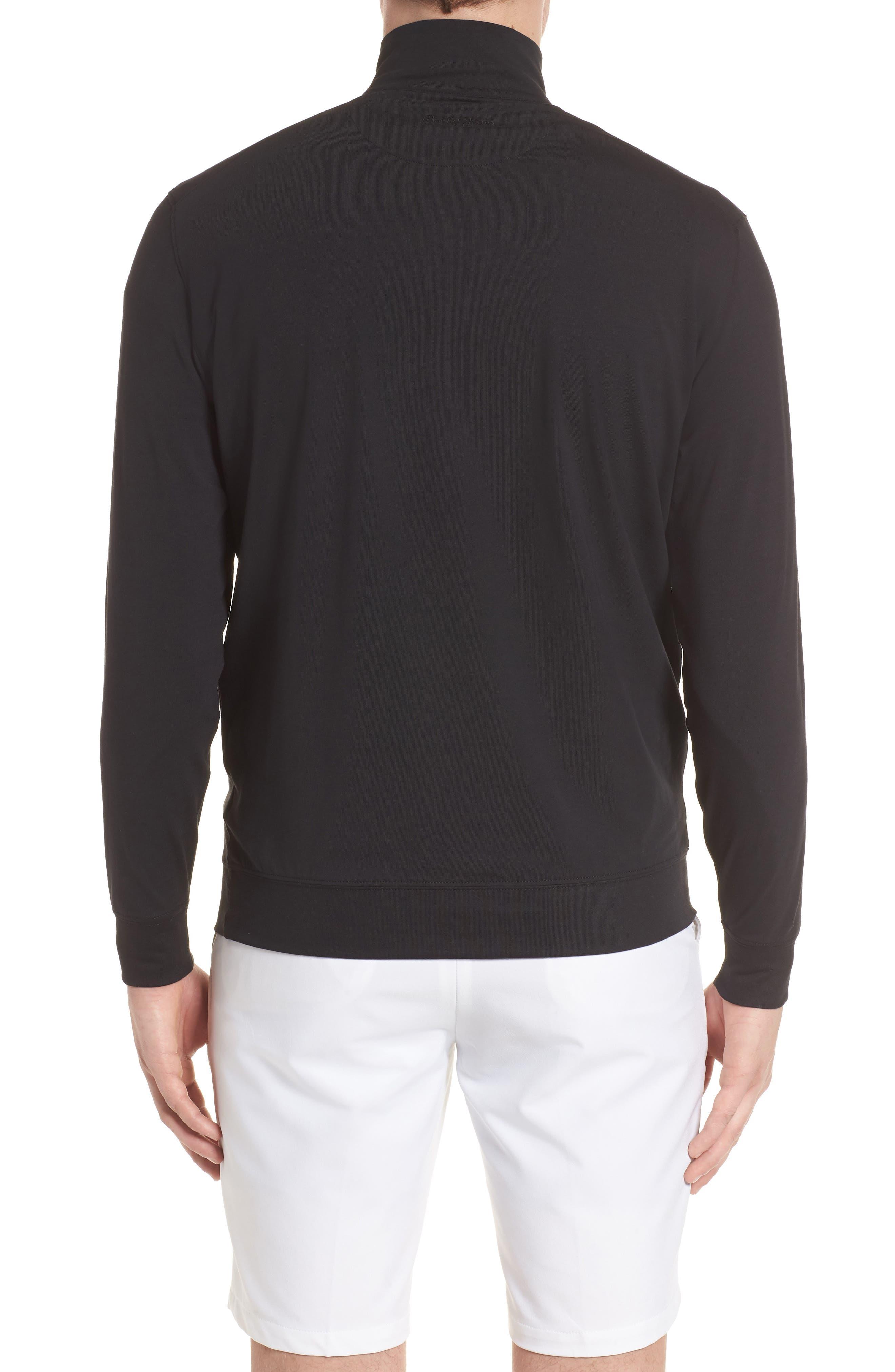 PTO Liquid Stretch Quarter Zip Pullover,                             Alternate thumbnail 2, color,                             BLACK