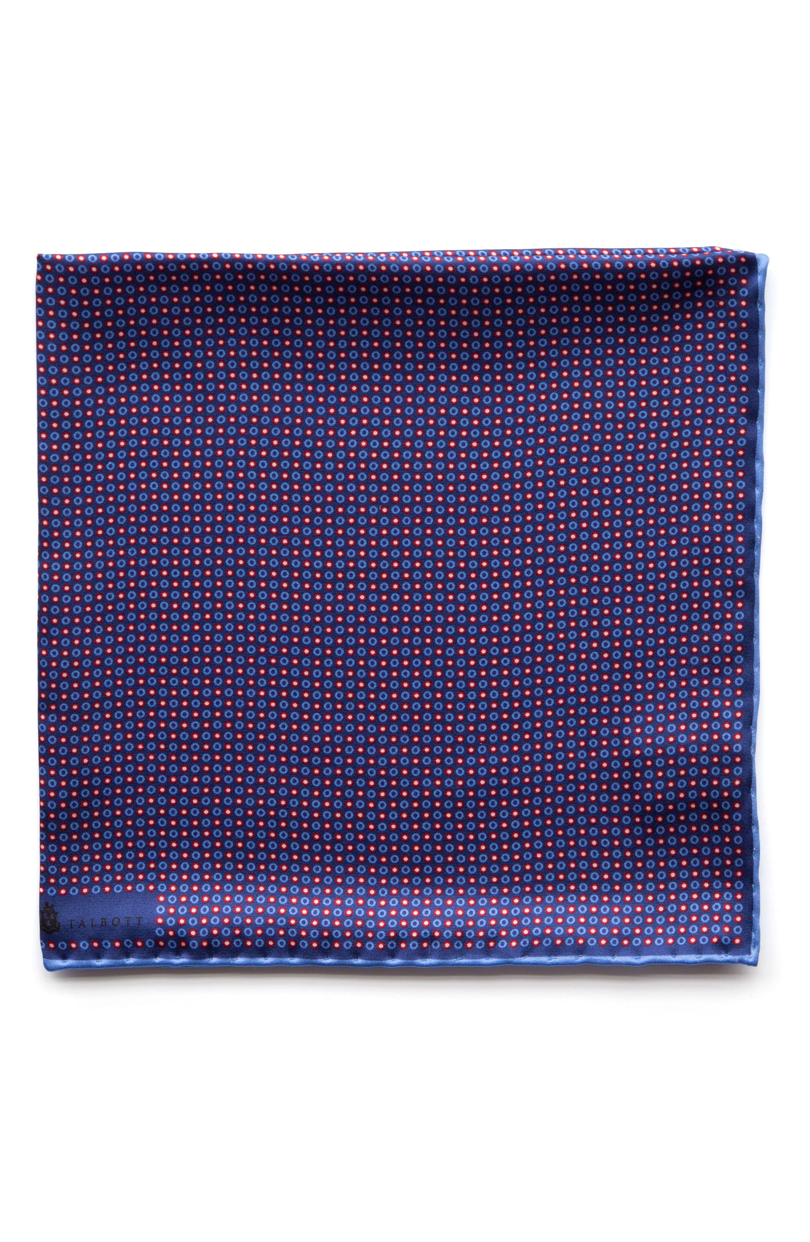 Geometric Silk Pocket Square,                             Main thumbnail 2, color,