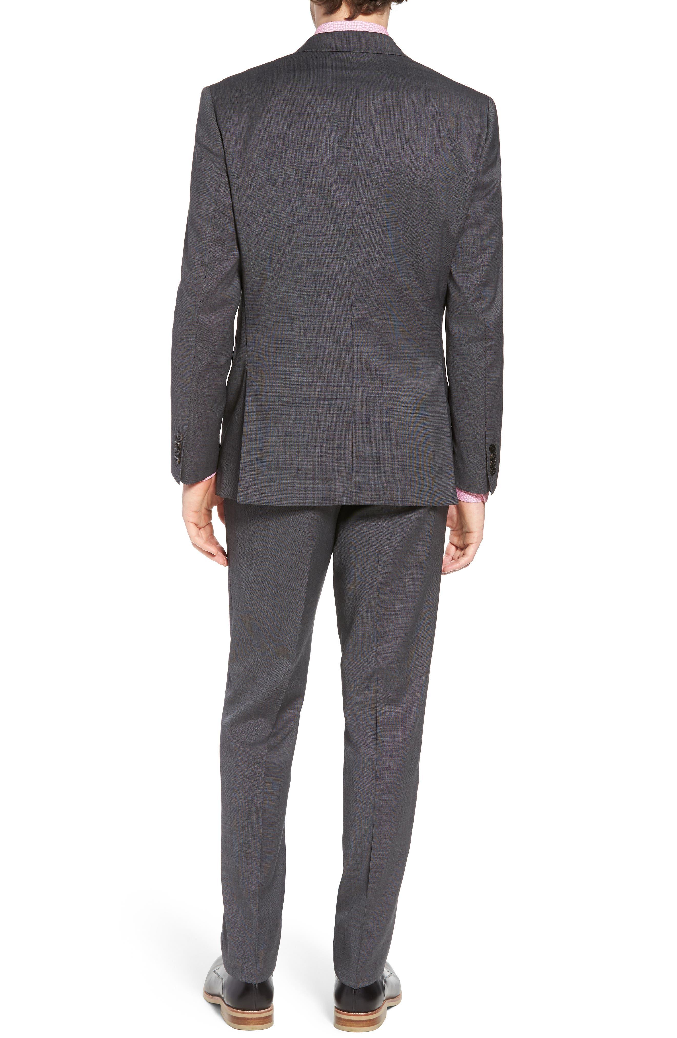 Jay Trim Fit Solid Wool Suit,                             Alternate thumbnail 2, color,                             020