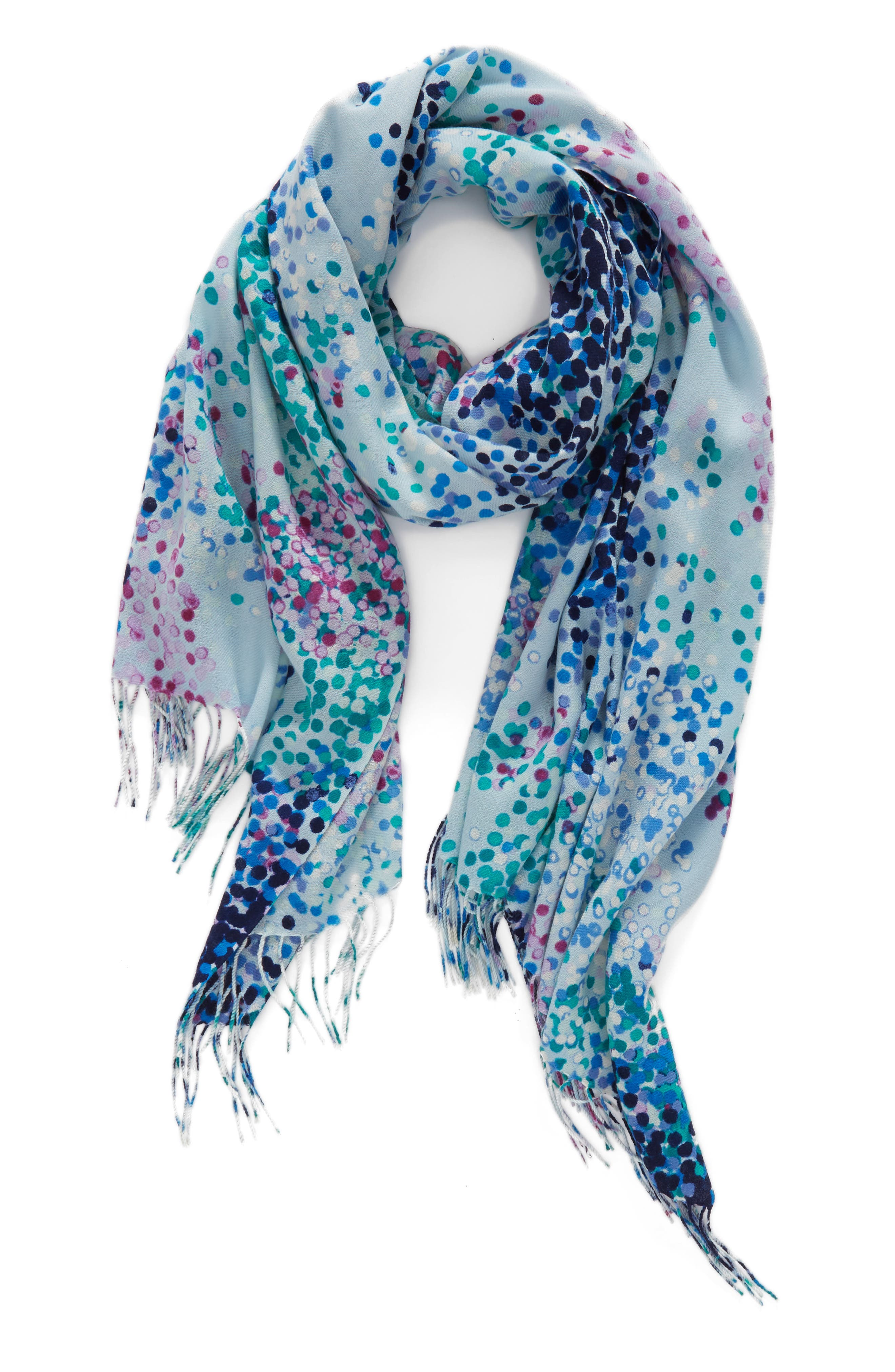 Tissue Print Wool & Cashmere Wrap Scarf,                             Alternate thumbnail 44, color,