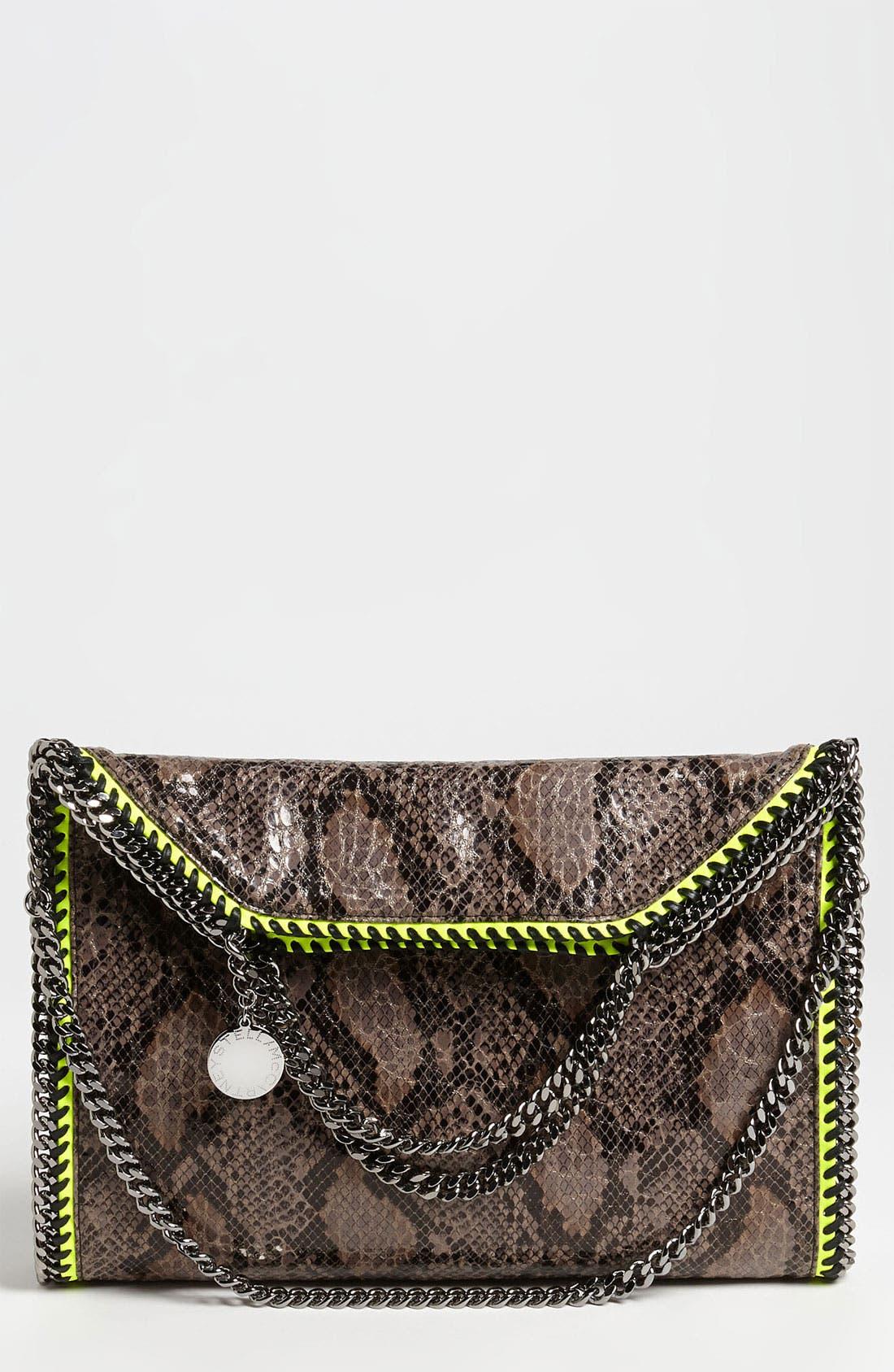 'Falabella' Faux Python Handbag,                             Main thumbnail 1, color,                             020