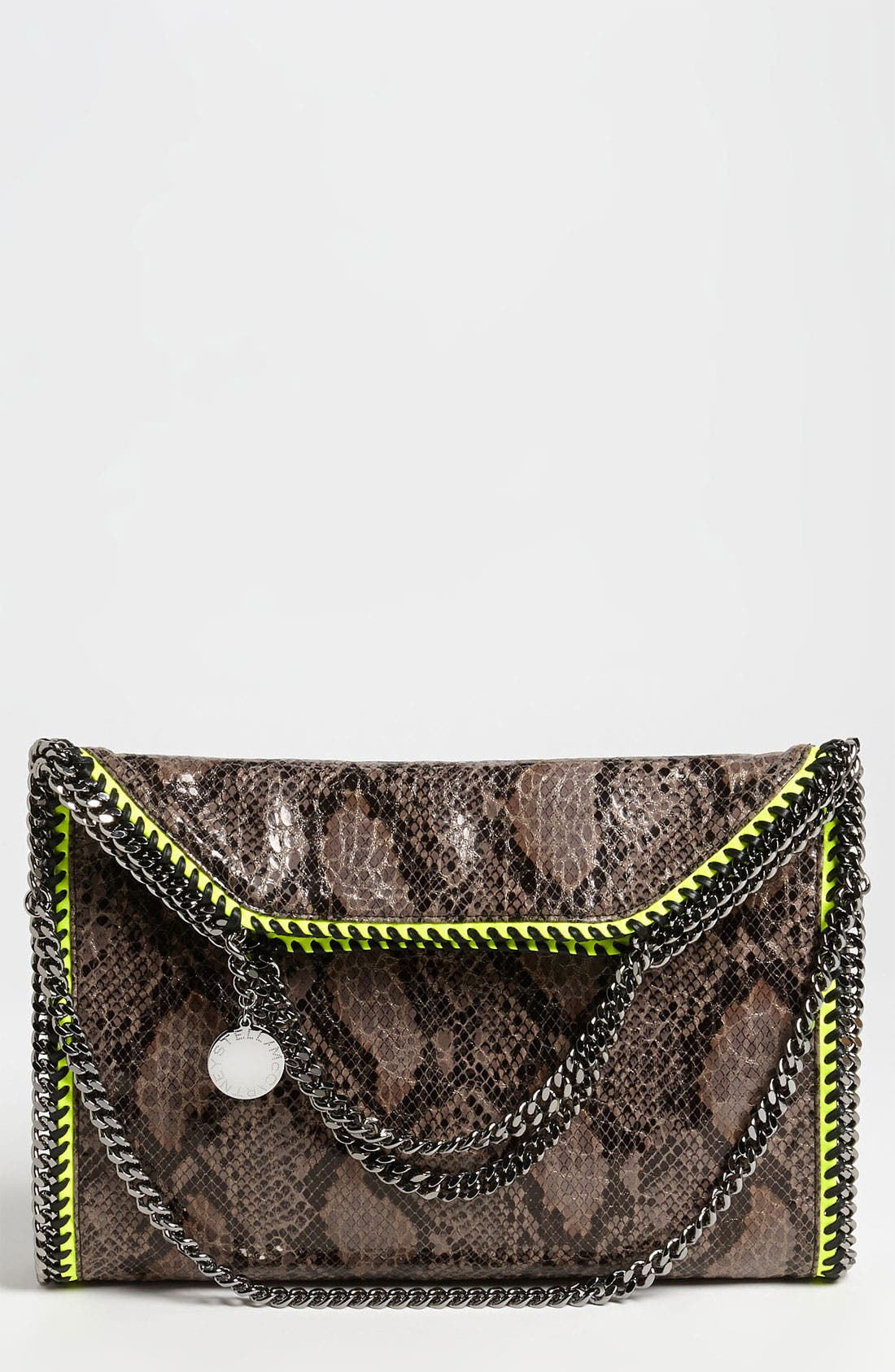 'Falabella' Faux Python Handbag, Main, color, 020