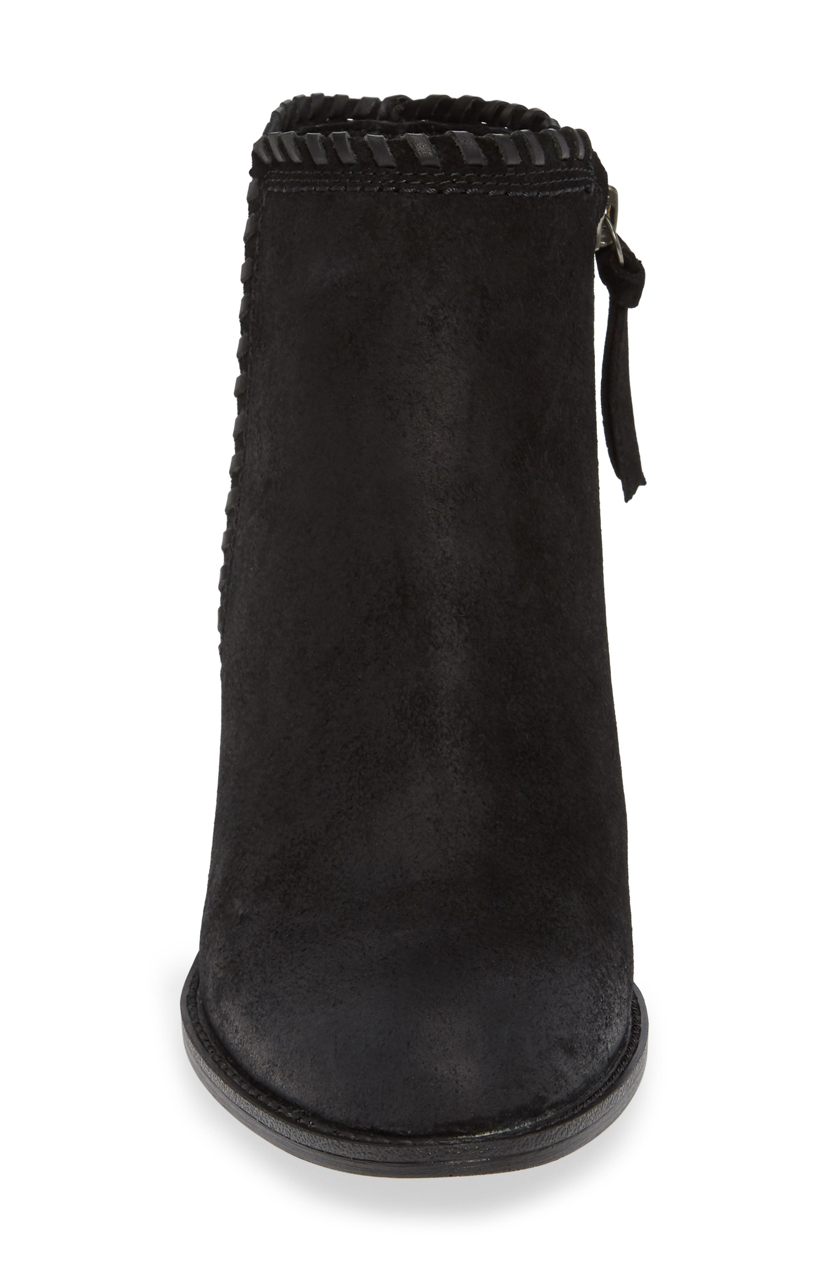 Wilton Bootie,                             Alternate thumbnail 4, color,                             BLACK SUEDE