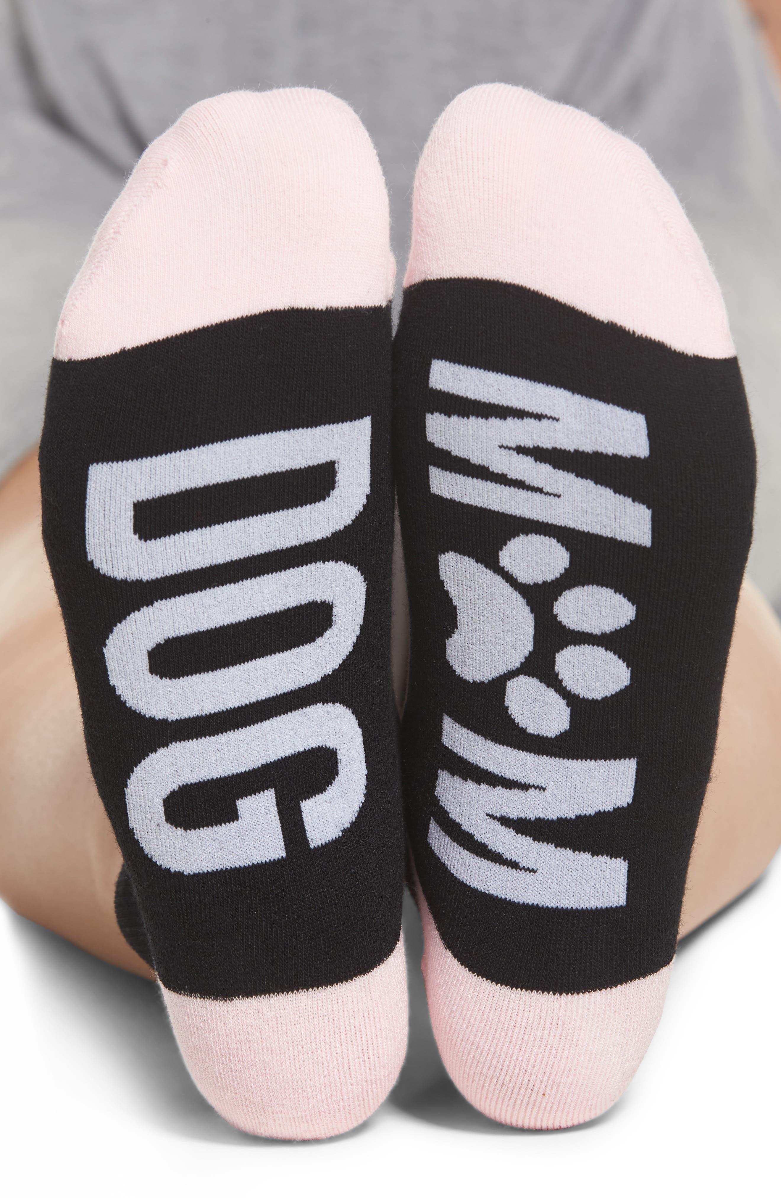 Dog Mom Ankle Socks,                             Alternate thumbnail 2, color,                             001