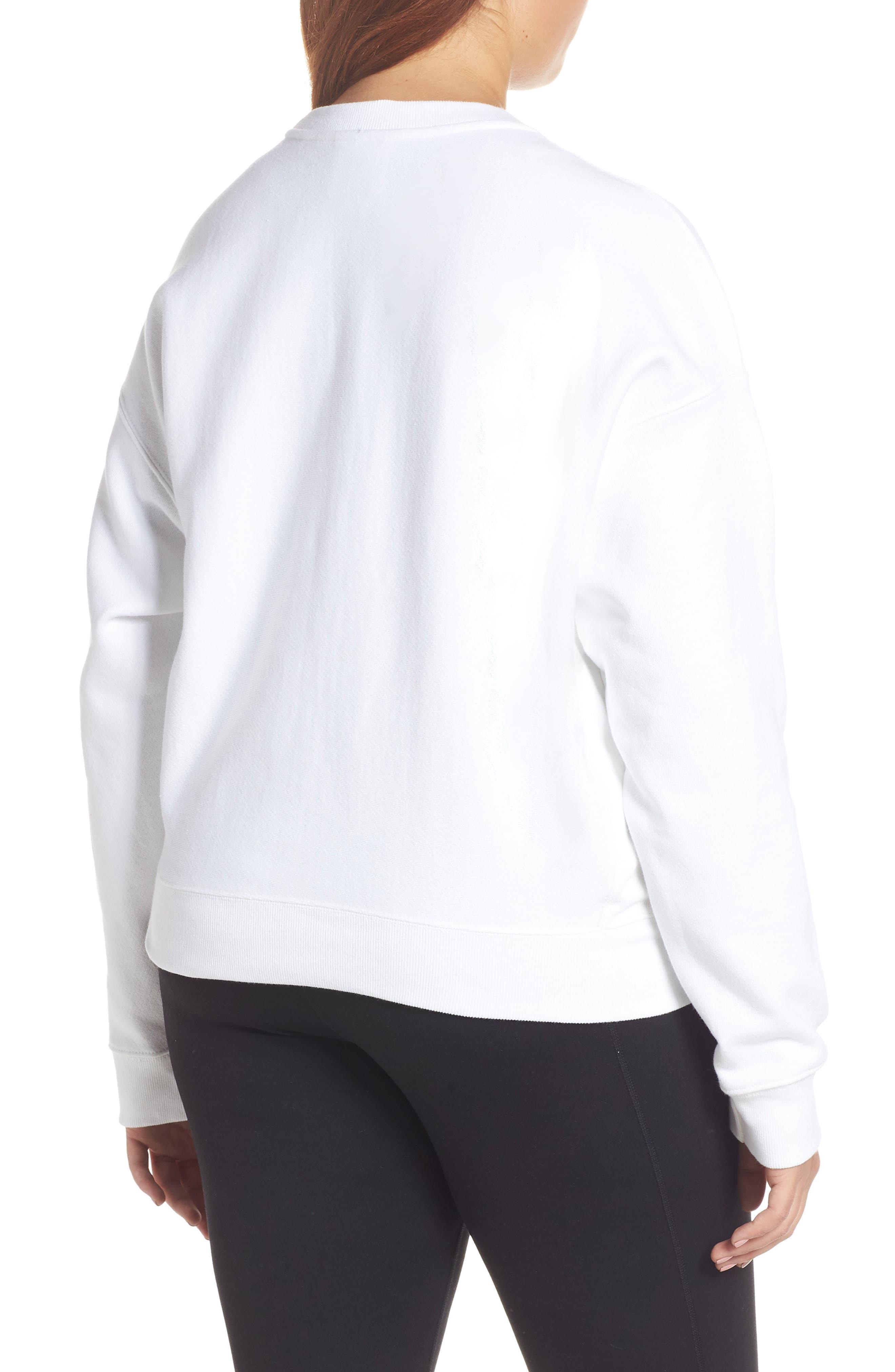 Sublimated Logo Sweatshirt,                             Alternate thumbnail 8, color,                             WHITE