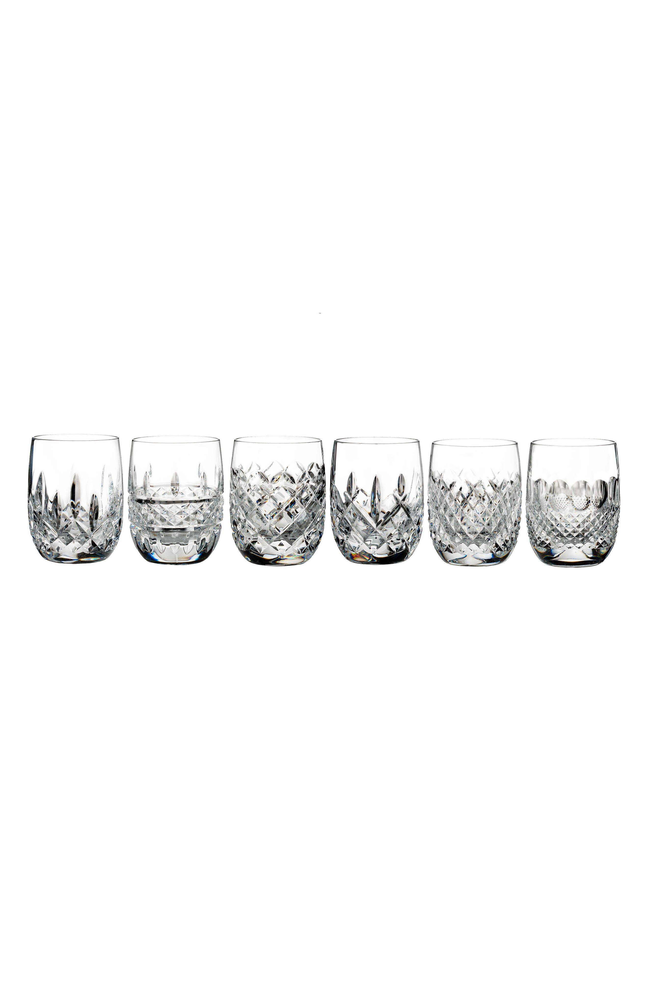 Connoisseur Set of 6 Lead Crystal Tumblers,                             Main thumbnail 1, color,                             100