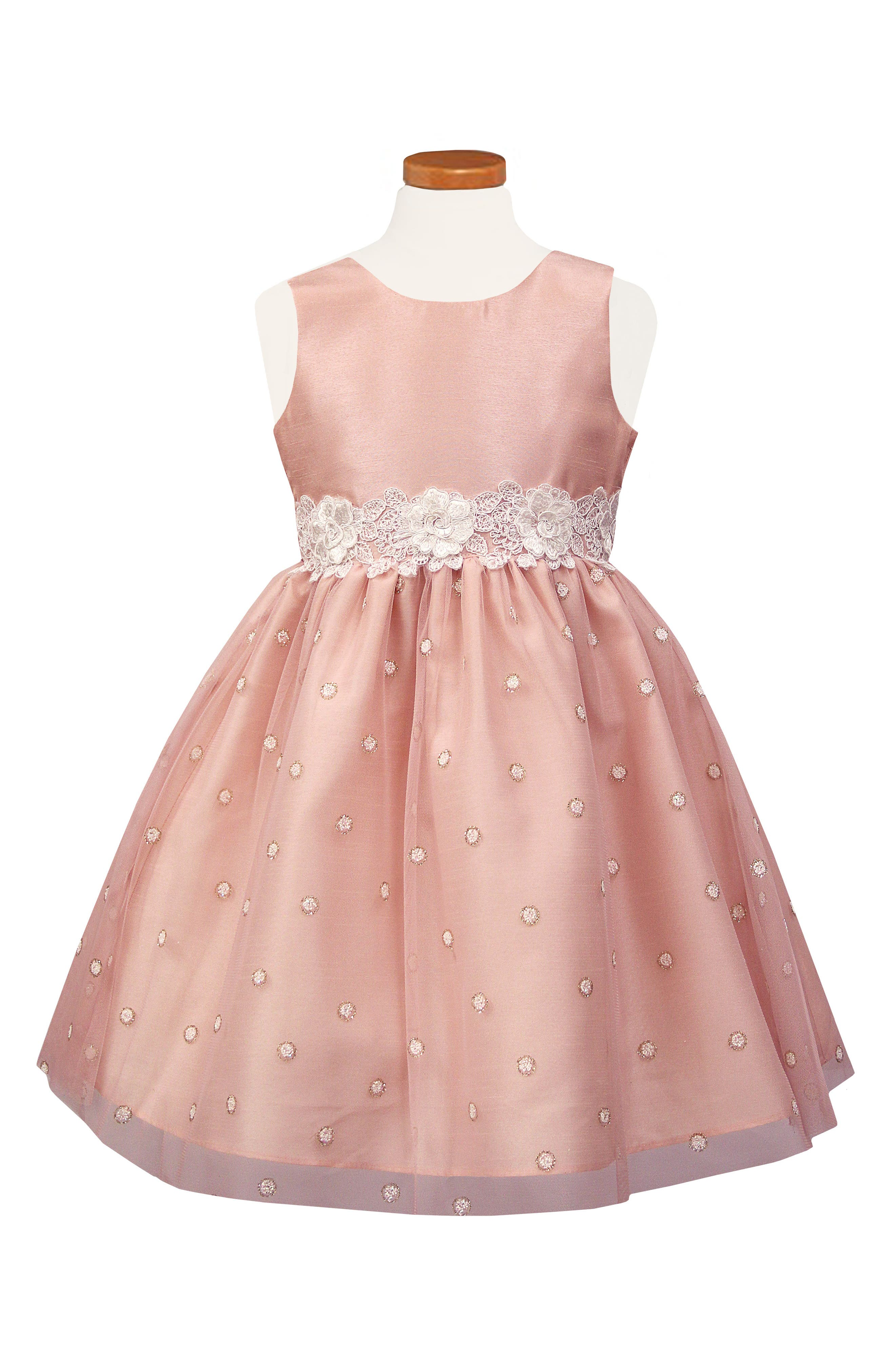 Fit & Flare Dress,                             Main thumbnail 1, color,                             BLUSH