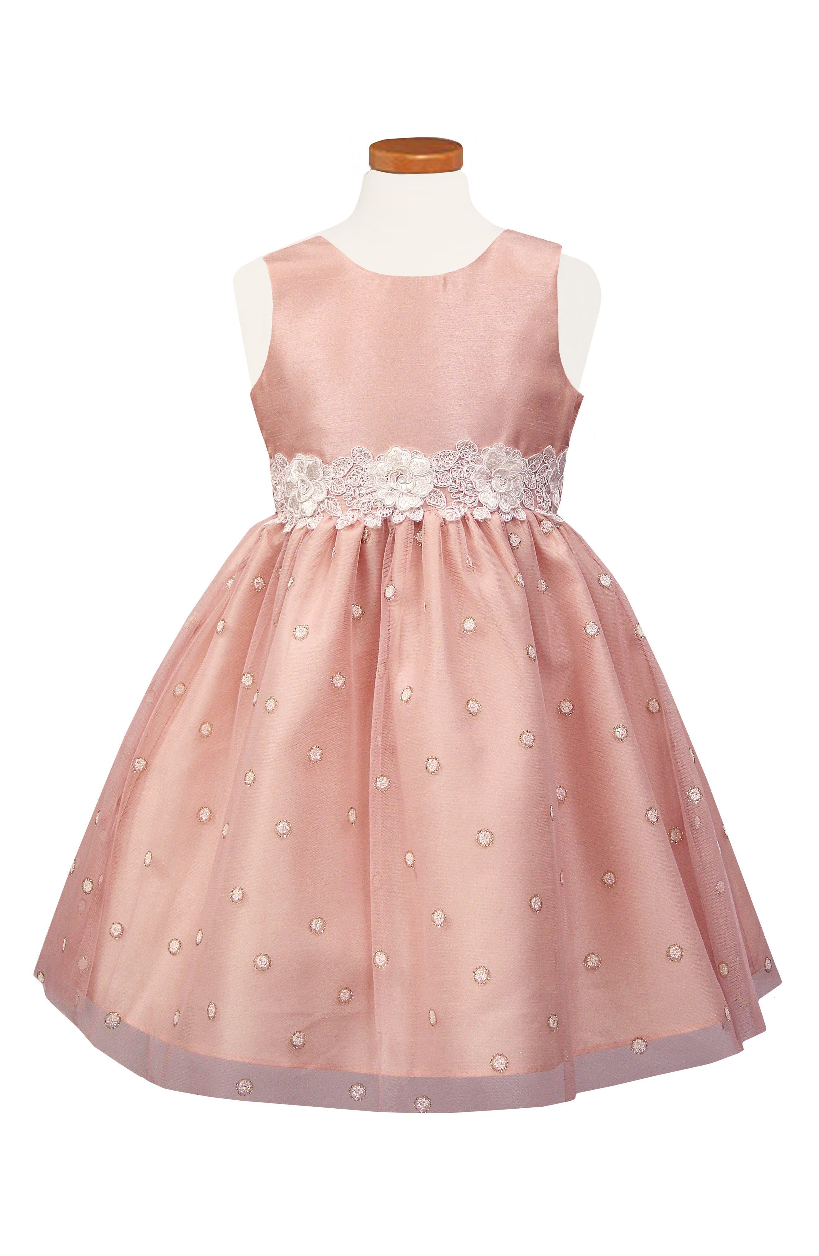 Fit & Flare Dress,                         Main,                         color, BLUSH