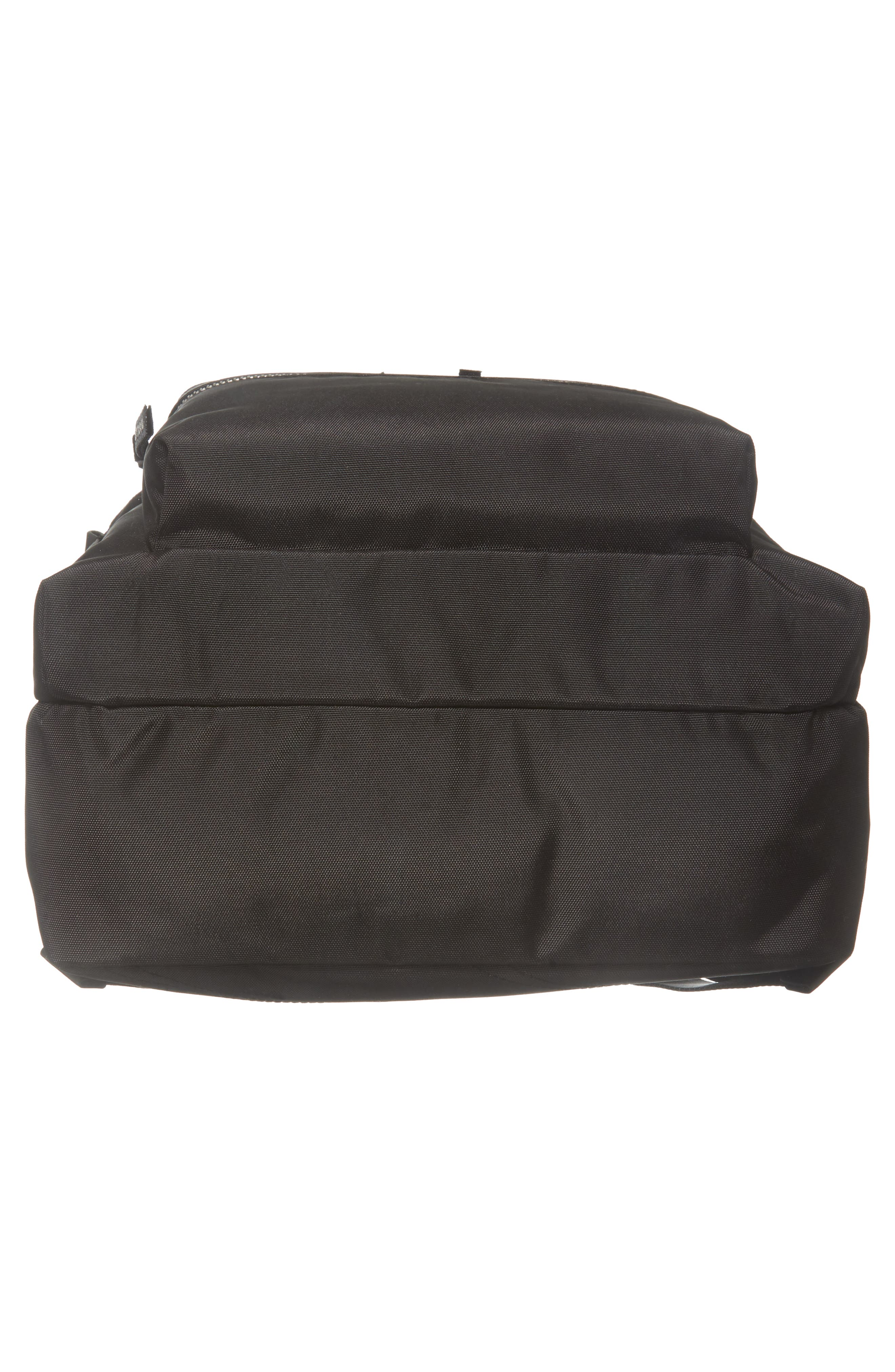 Large Sport Trek Nylon Backpack,                             Alternate thumbnail 6, color,                             BLACK