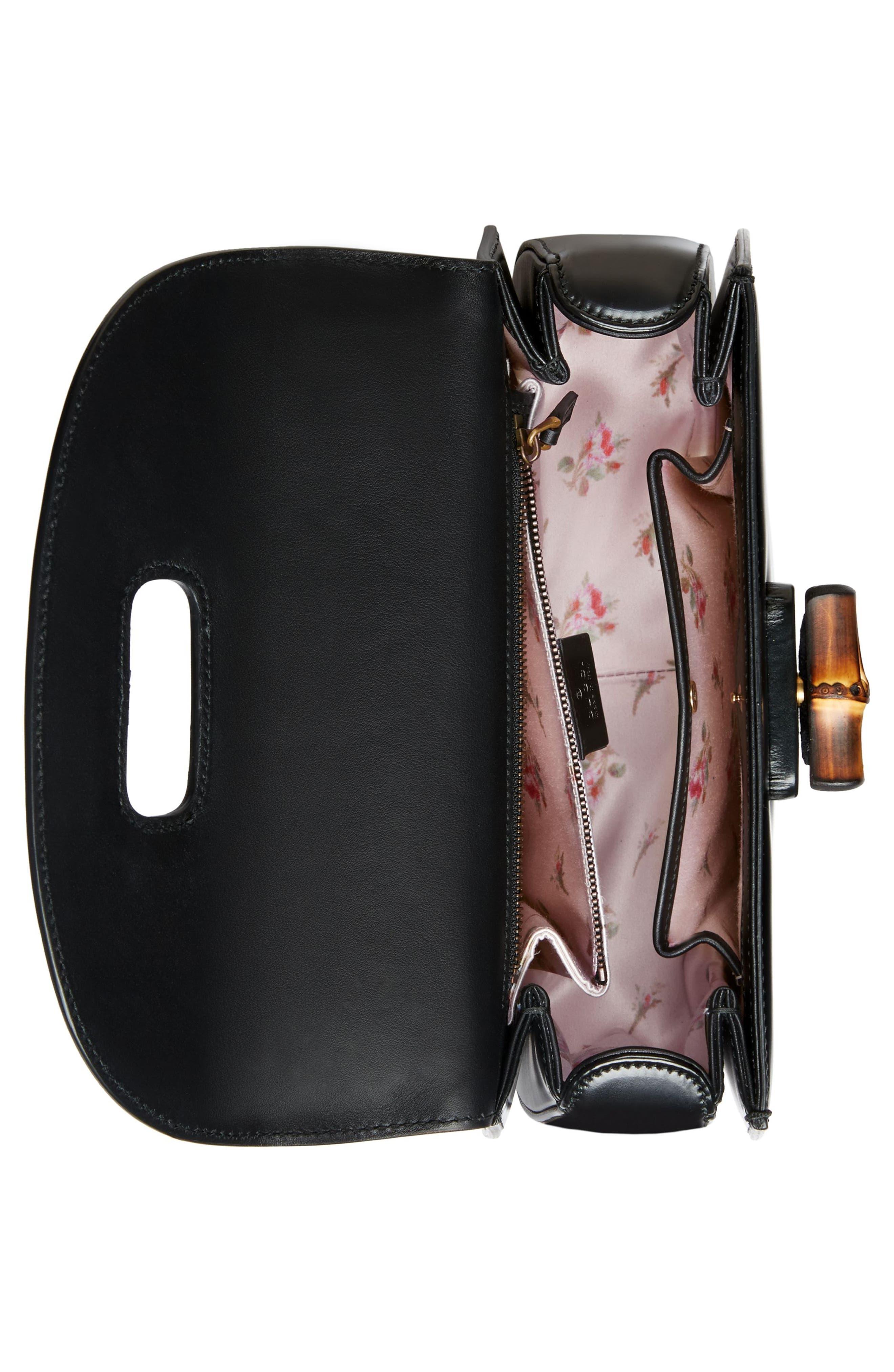 Medium Classic 2 Top Handle Shoulder Bag,                             Alternate thumbnail 3, color,                             NERO/ ROSE CRYSTAL