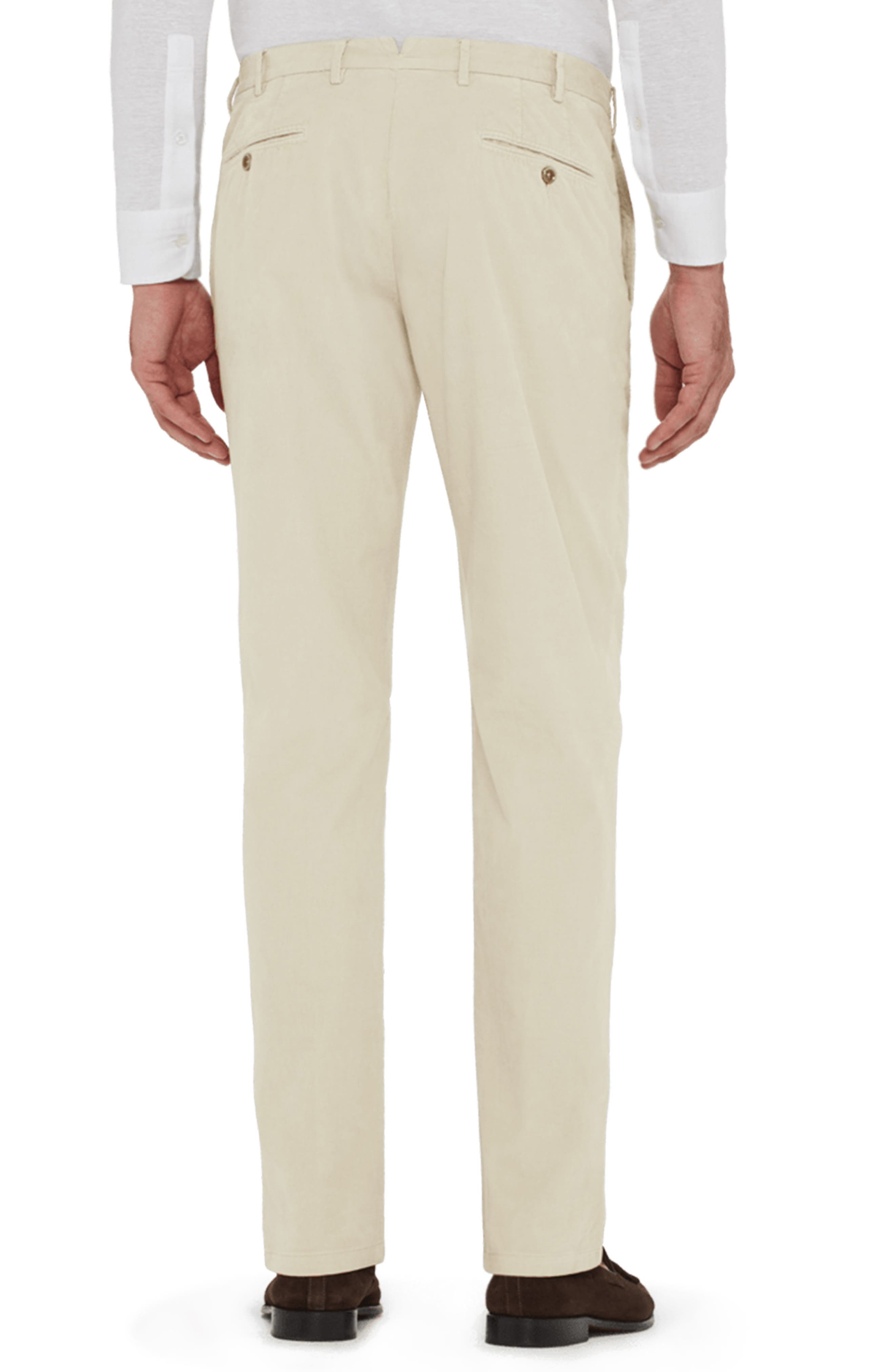 Curtis Flat Front Stretch Corduroy Cotton Trousers,                             Alternate thumbnail 2, color,                             IVORY