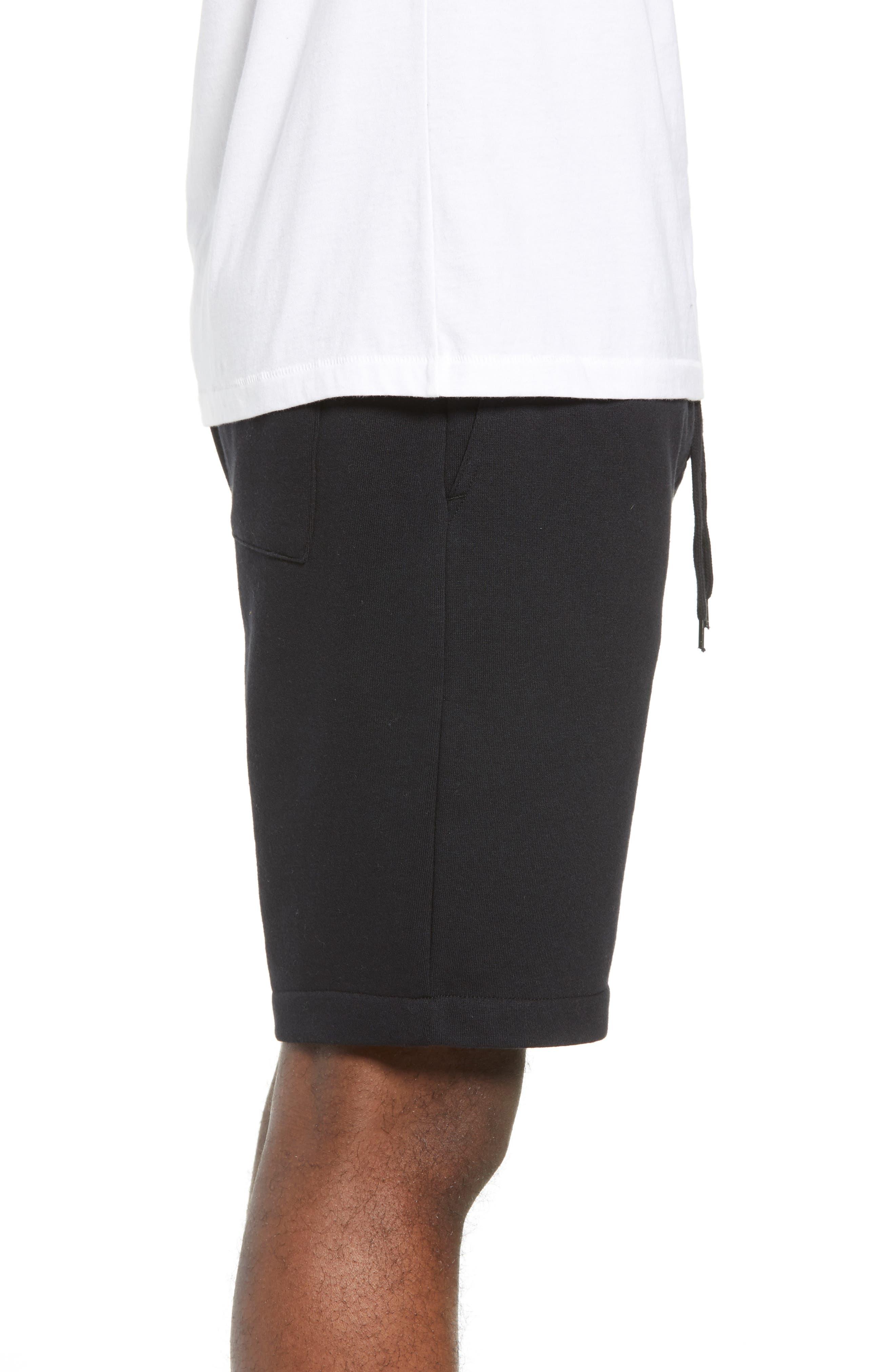 THE RAIL,                             Fleece Shorts,                             Alternate thumbnail 3, color,                             001