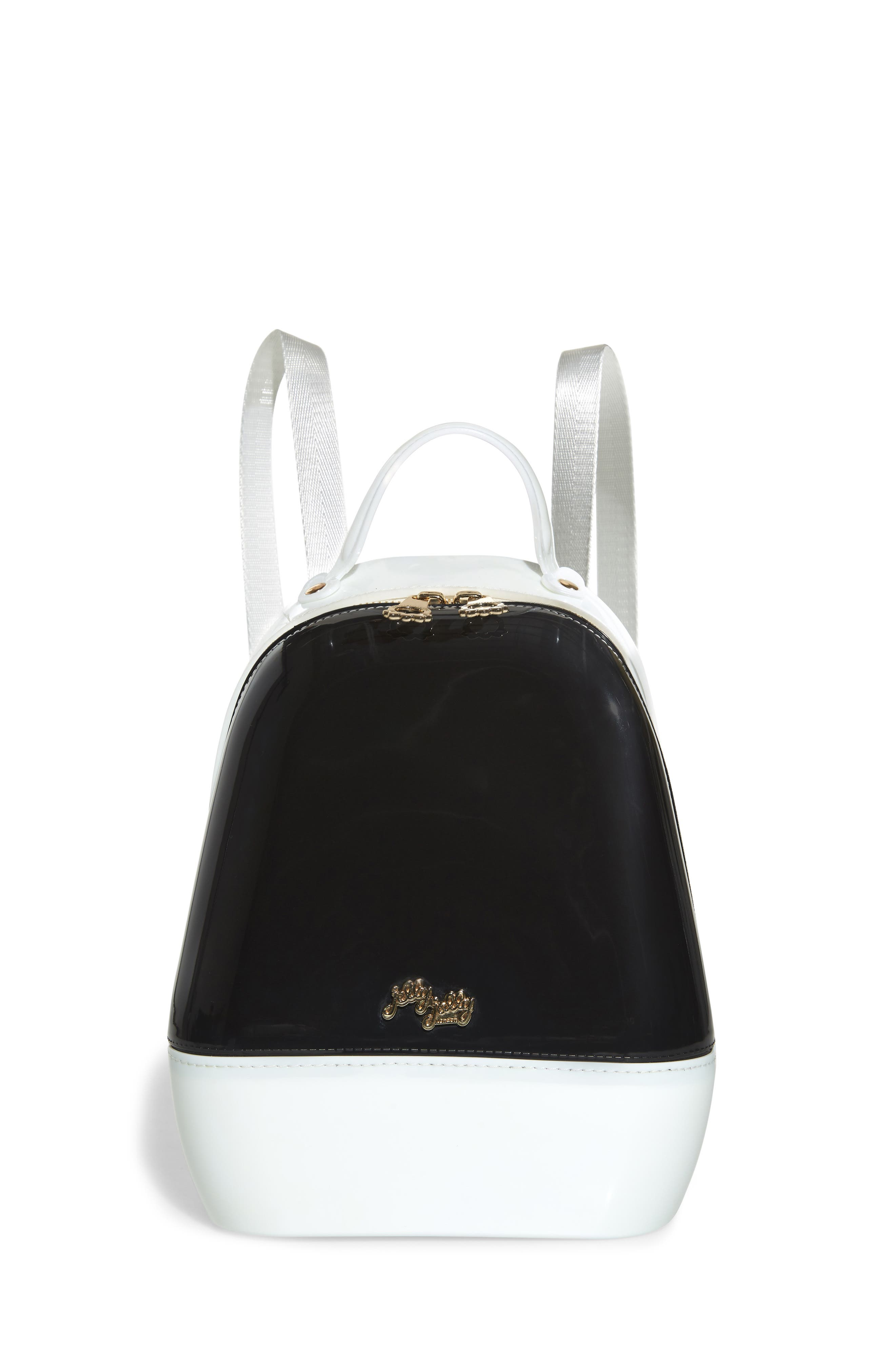 Annabelle Backpack,                         Main,                         color, BLACK AND WHITE