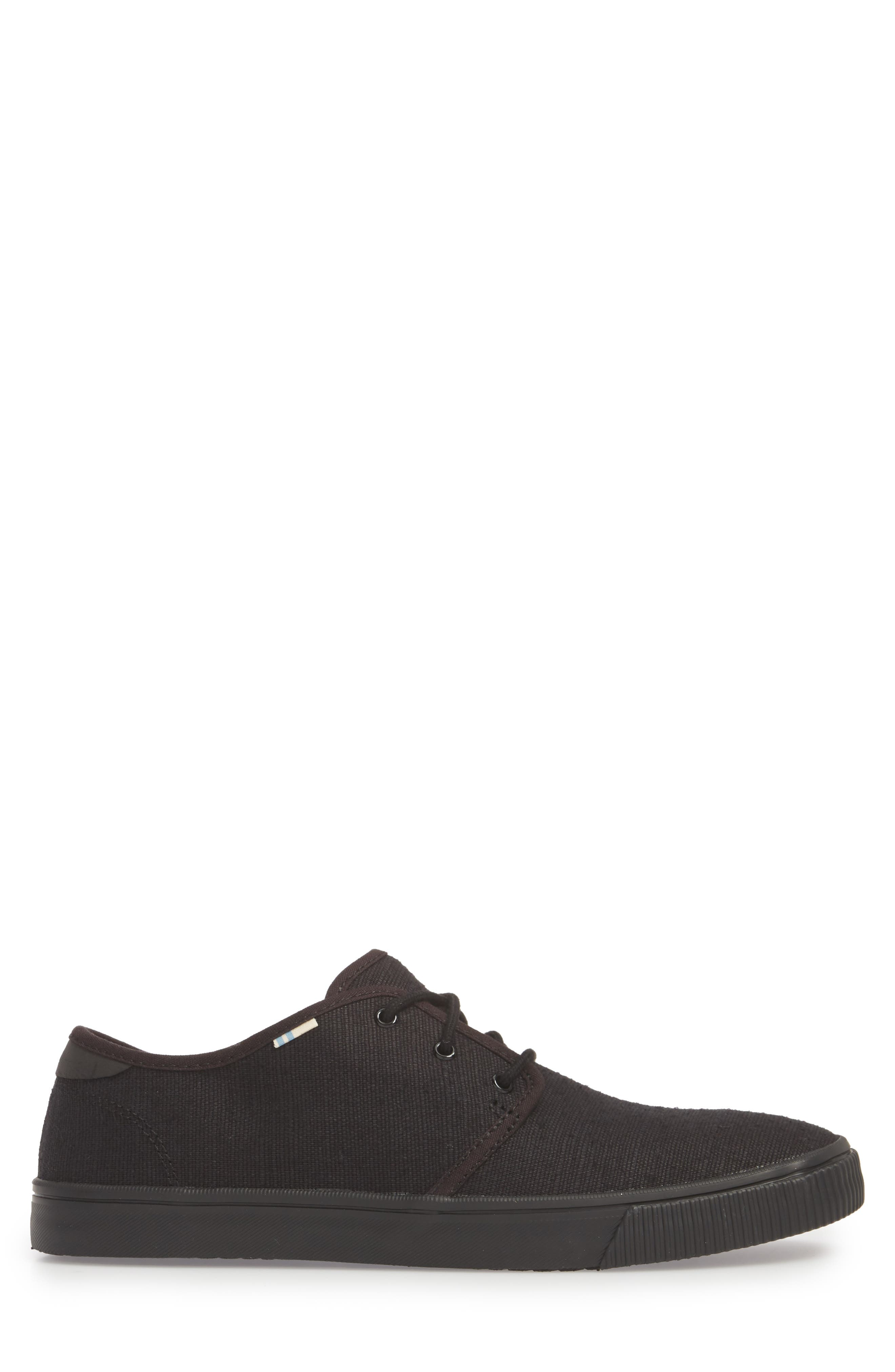 Carlo Low Top Sneaker,                             Alternate thumbnail 3, color,                             BLACK/ BLACK HERITAGE CANVAS