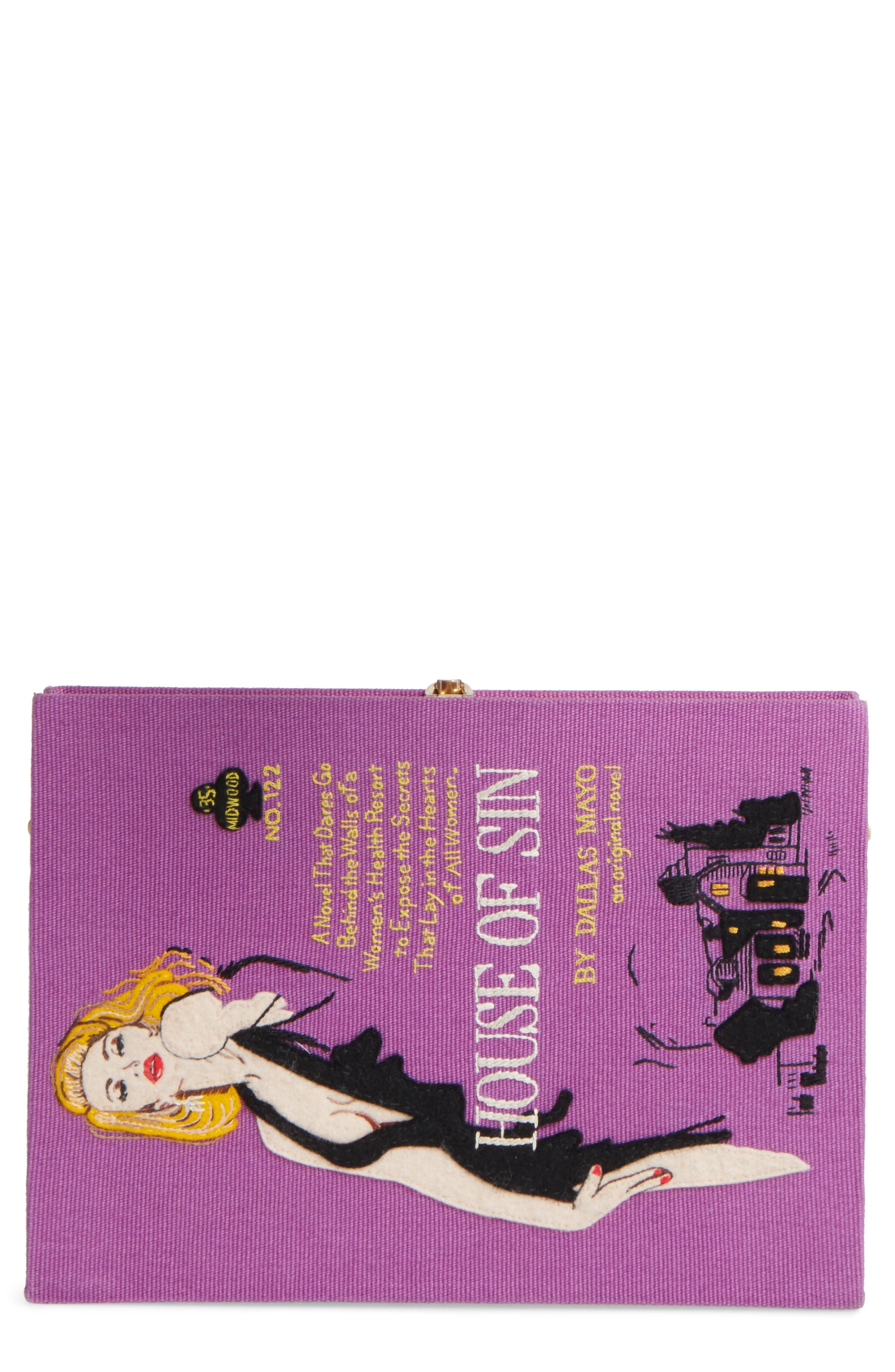 House of Sin Book Clutch,                         Main,                         color, 650