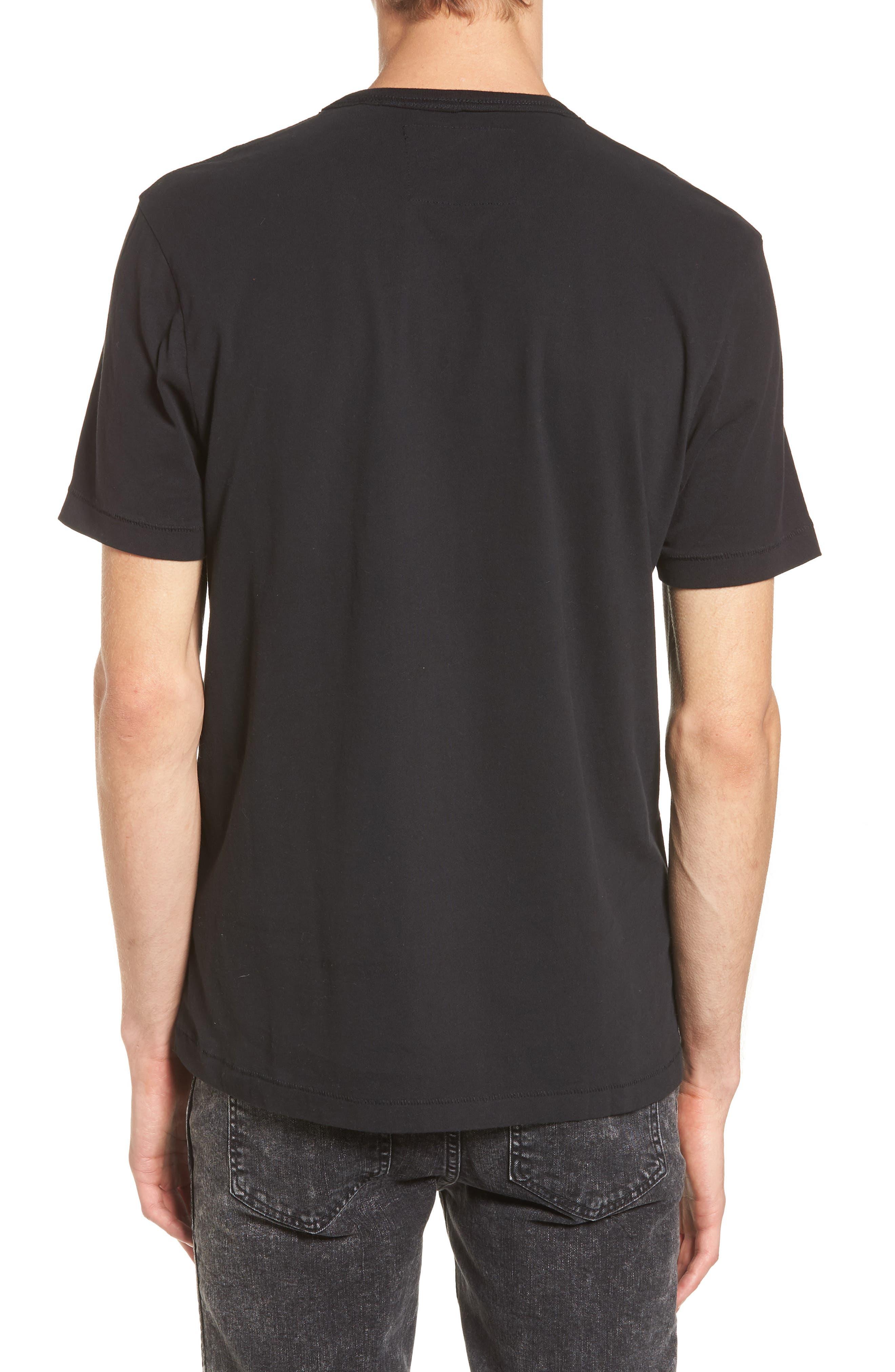 Foil Print T-Shirt,                             Alternate thumbnail 2, color,                             001