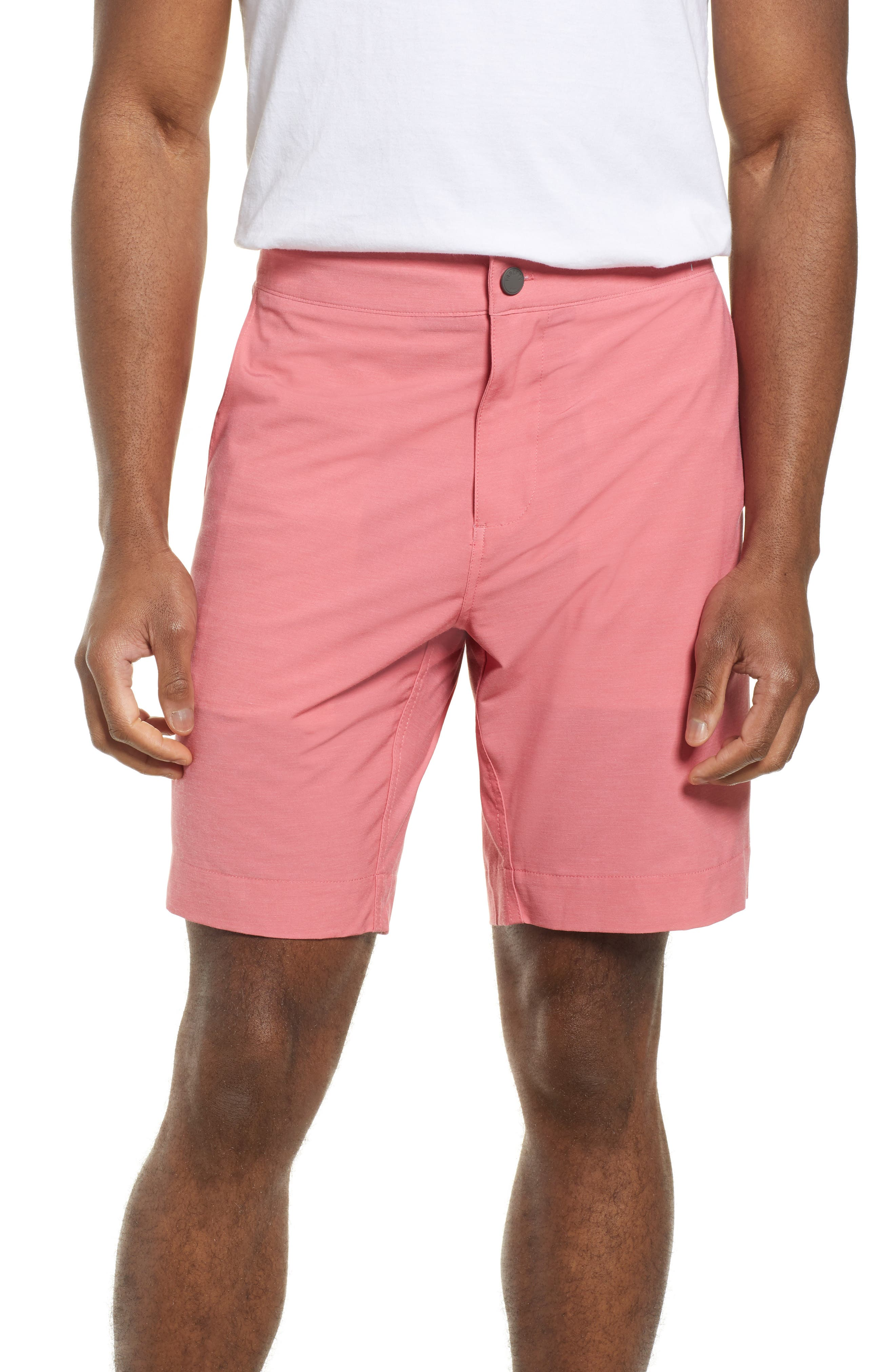 Faherty All Day Flat Front Shorts, Red