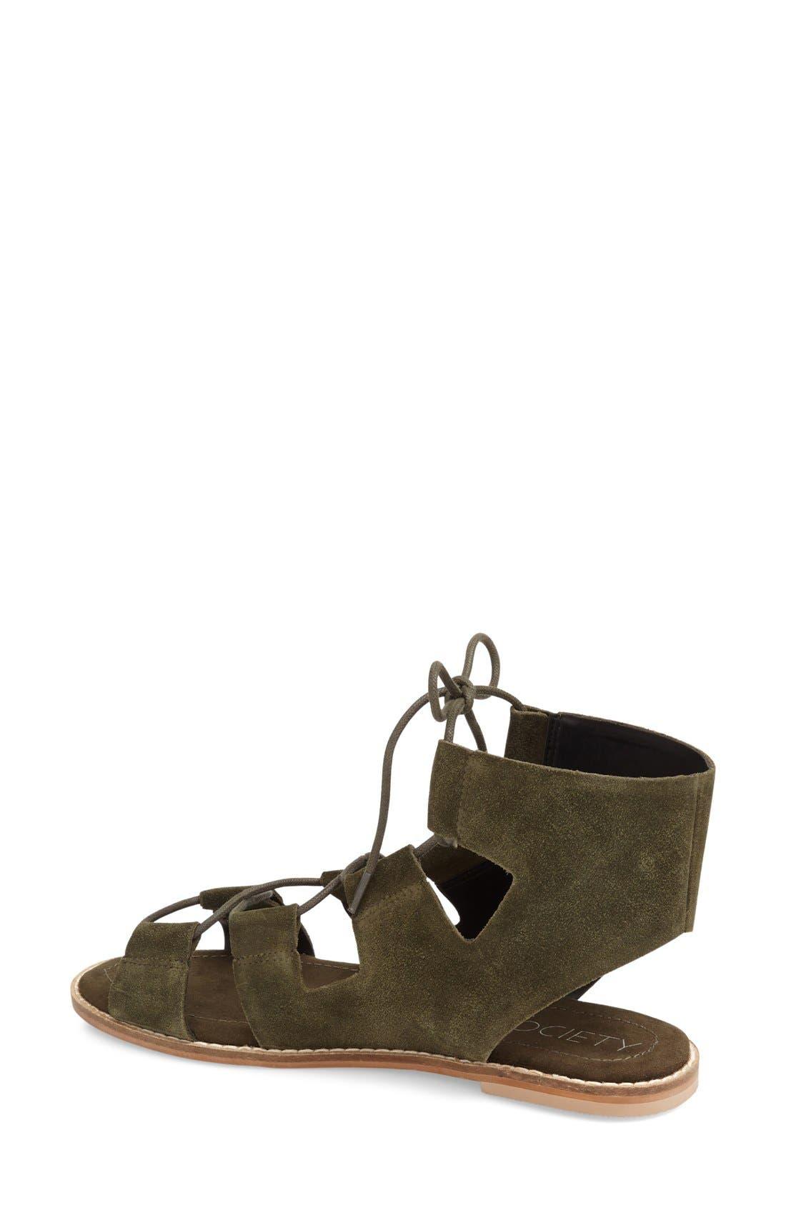 'Cady' Lace-Up Flat Sandal,                             Alternate thumbnail 7, color,