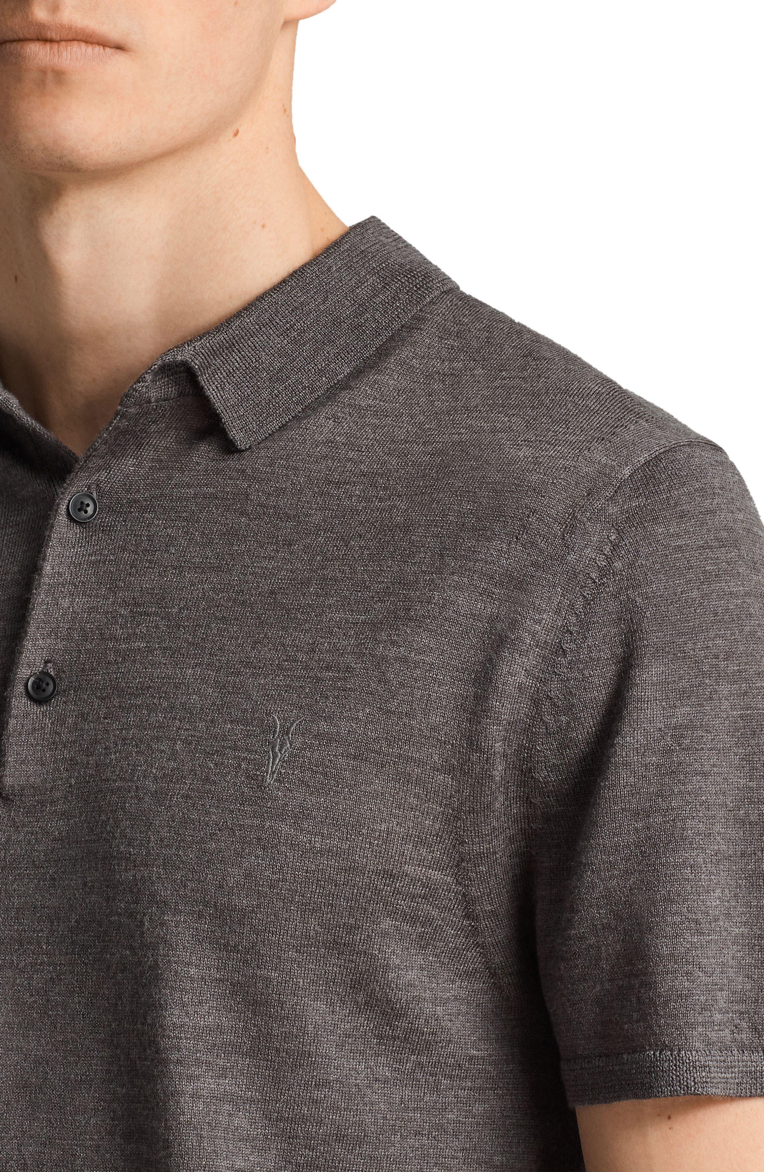 Mode Slim Fit Merino Wool Polo,                             Alternate thumbnail 8, color,