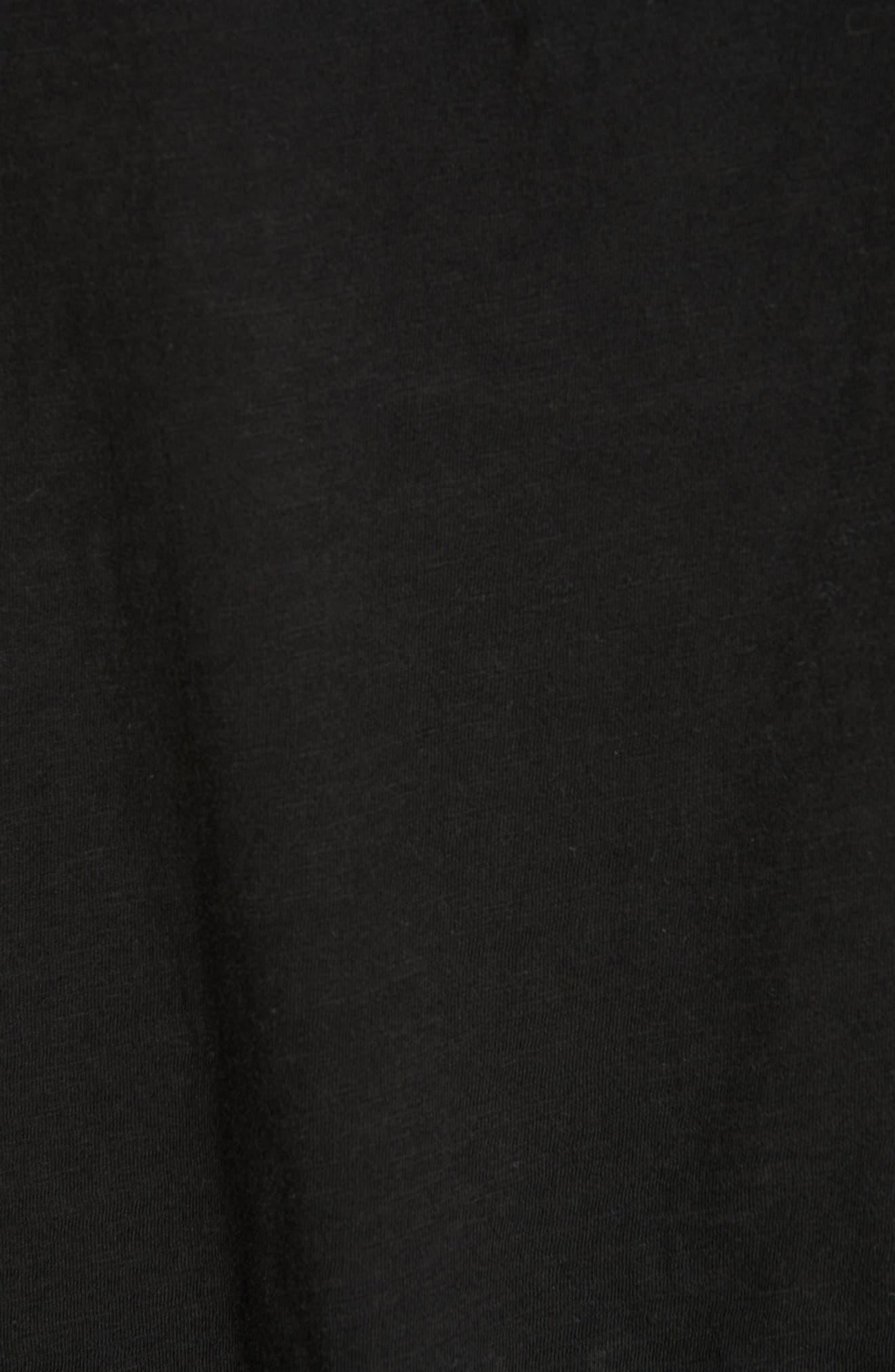 Organic Cotton Jersey Tank,                             Alternate thumbnail 5, color,                             BLACK