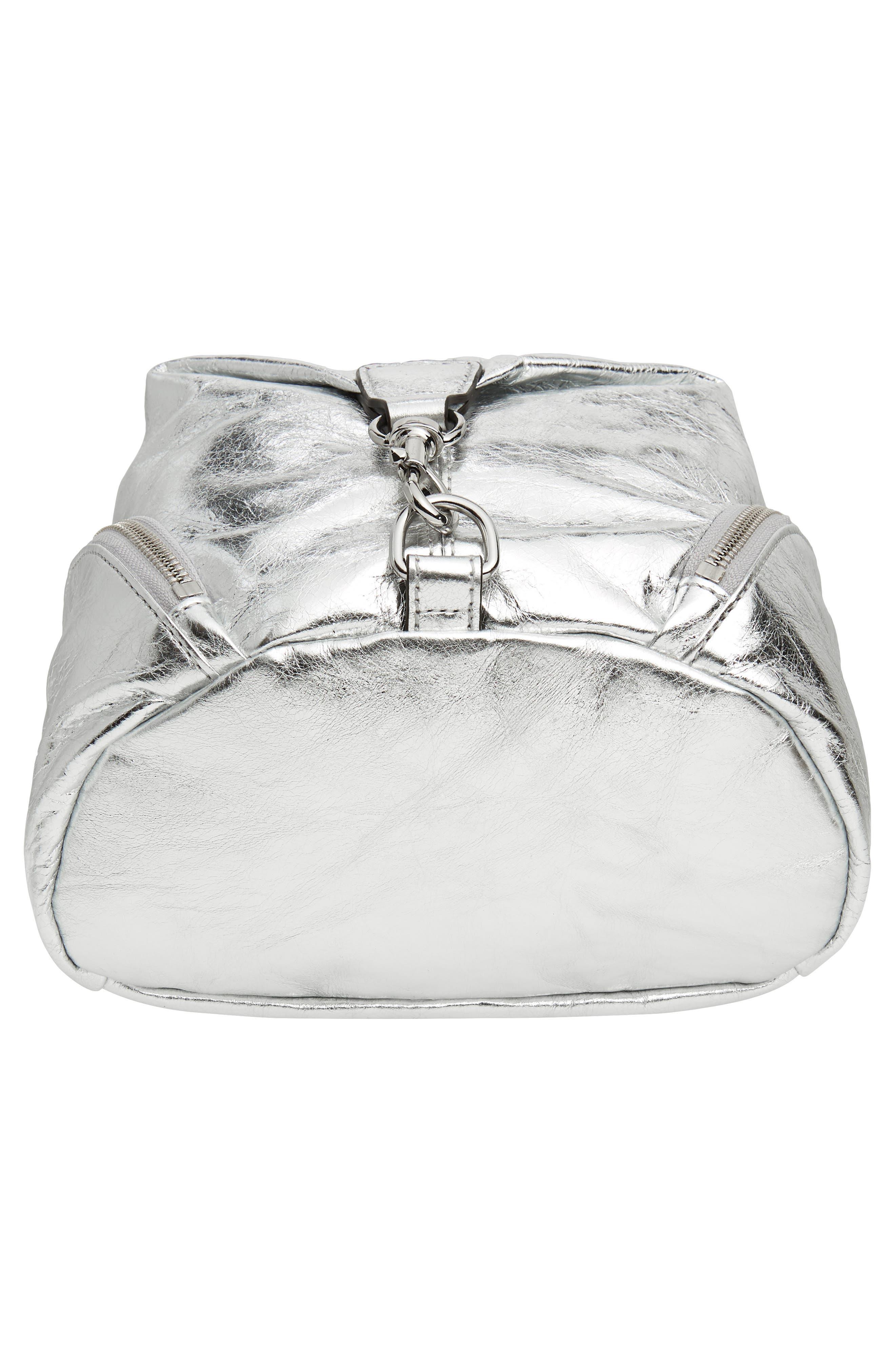 Medium Julian Leather Backpack,                             Alternate thumbnail 6, color,                             040