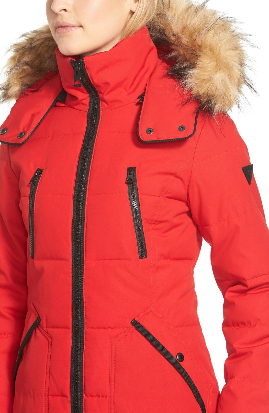 'Expedition' Quilted Parka with Faux Fur Trim,                             Alternate thumbnail 5, color,                             648