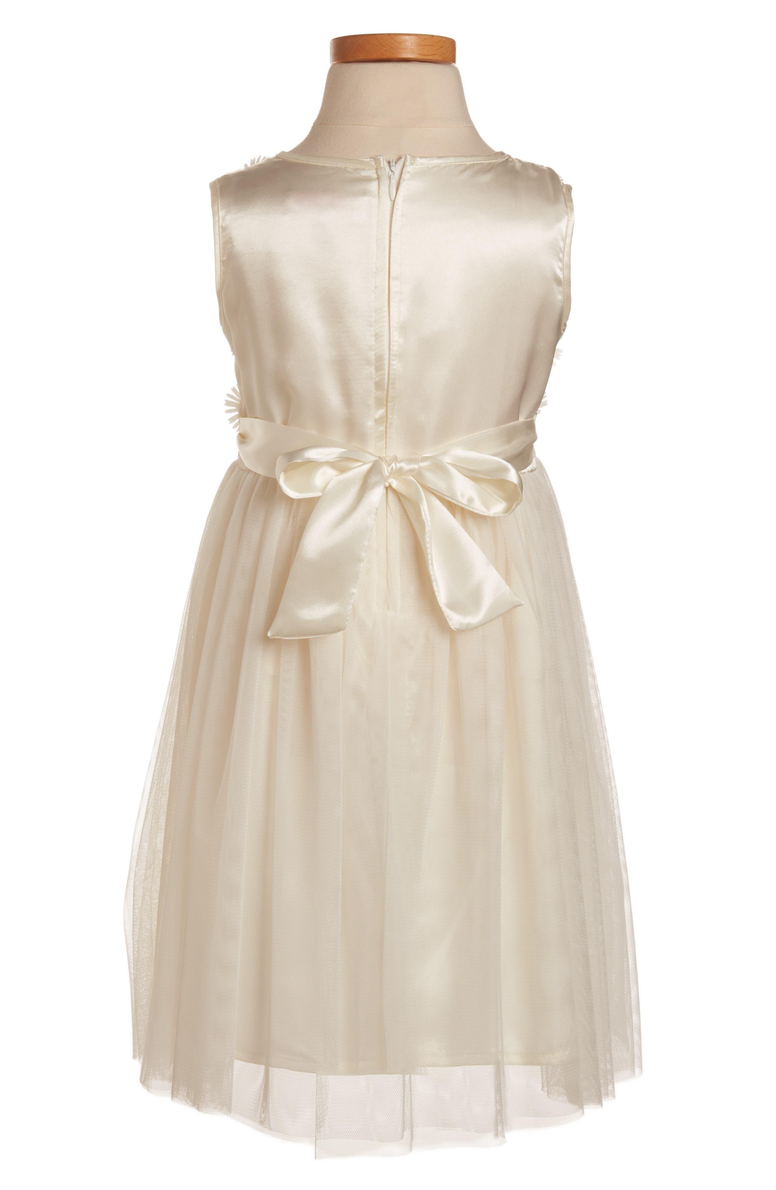Daisy Sleeveless Dress,                             Alternate thumbnail 2, color,                             WHITE